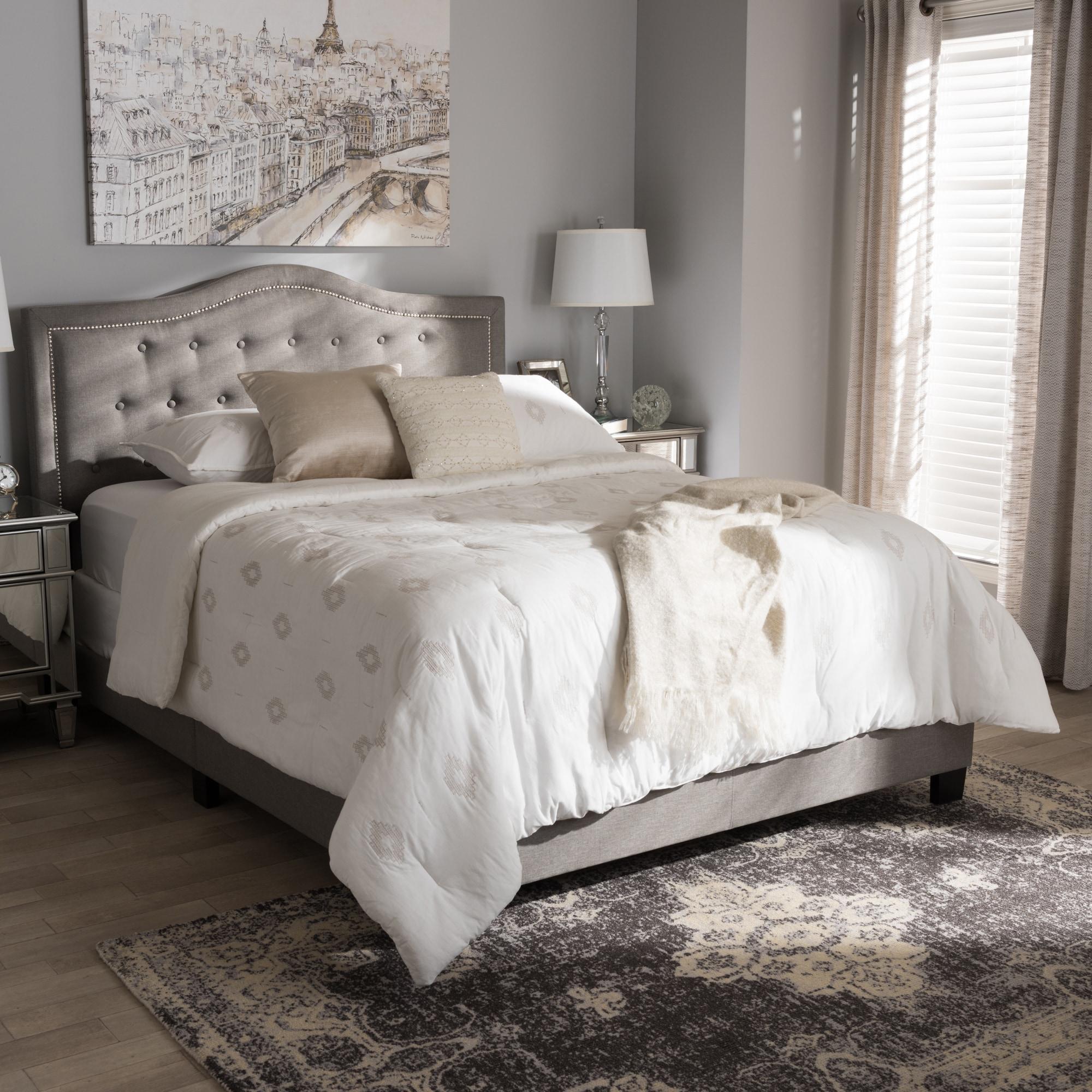 Shop Laurel Creek Sterling Contemporary Upholstered Bed  On Sale