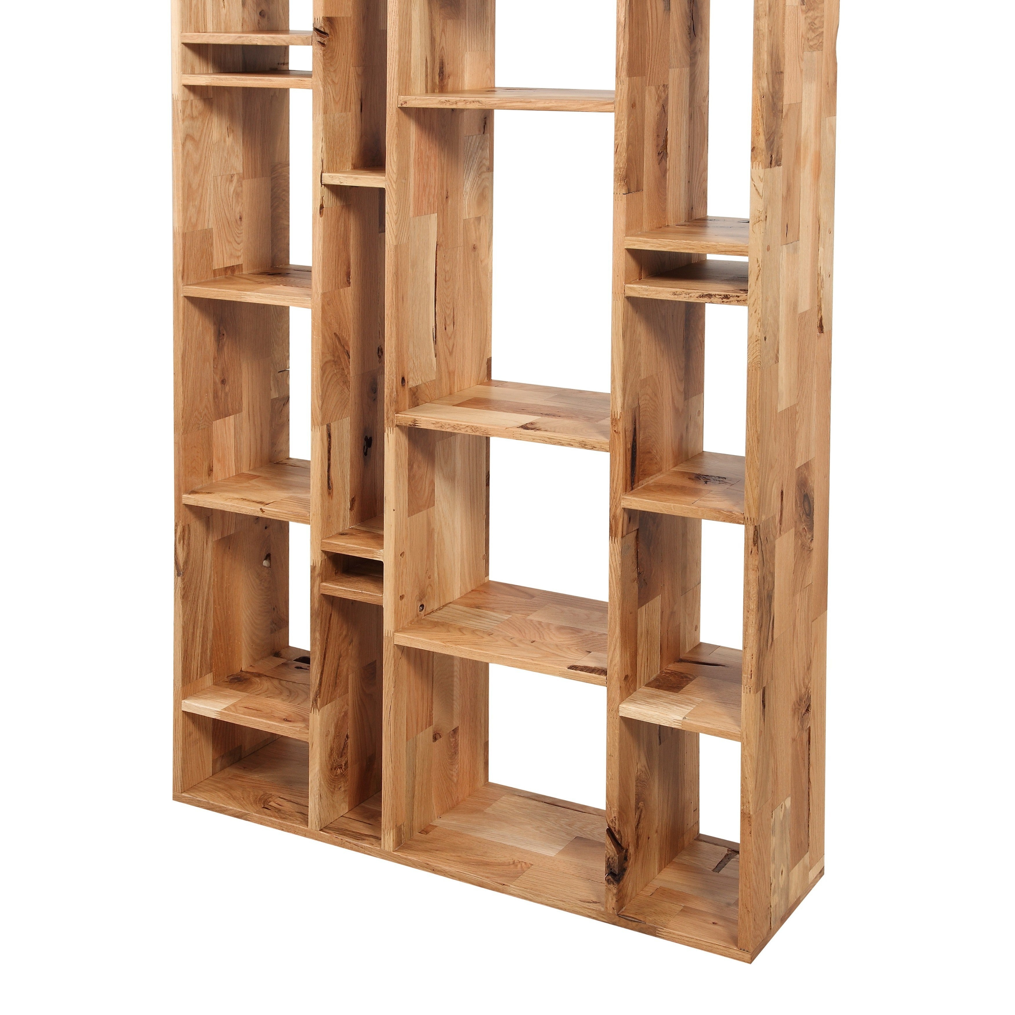 Shop Aurelle Home Sled Wooden Rustic Bookshelf
