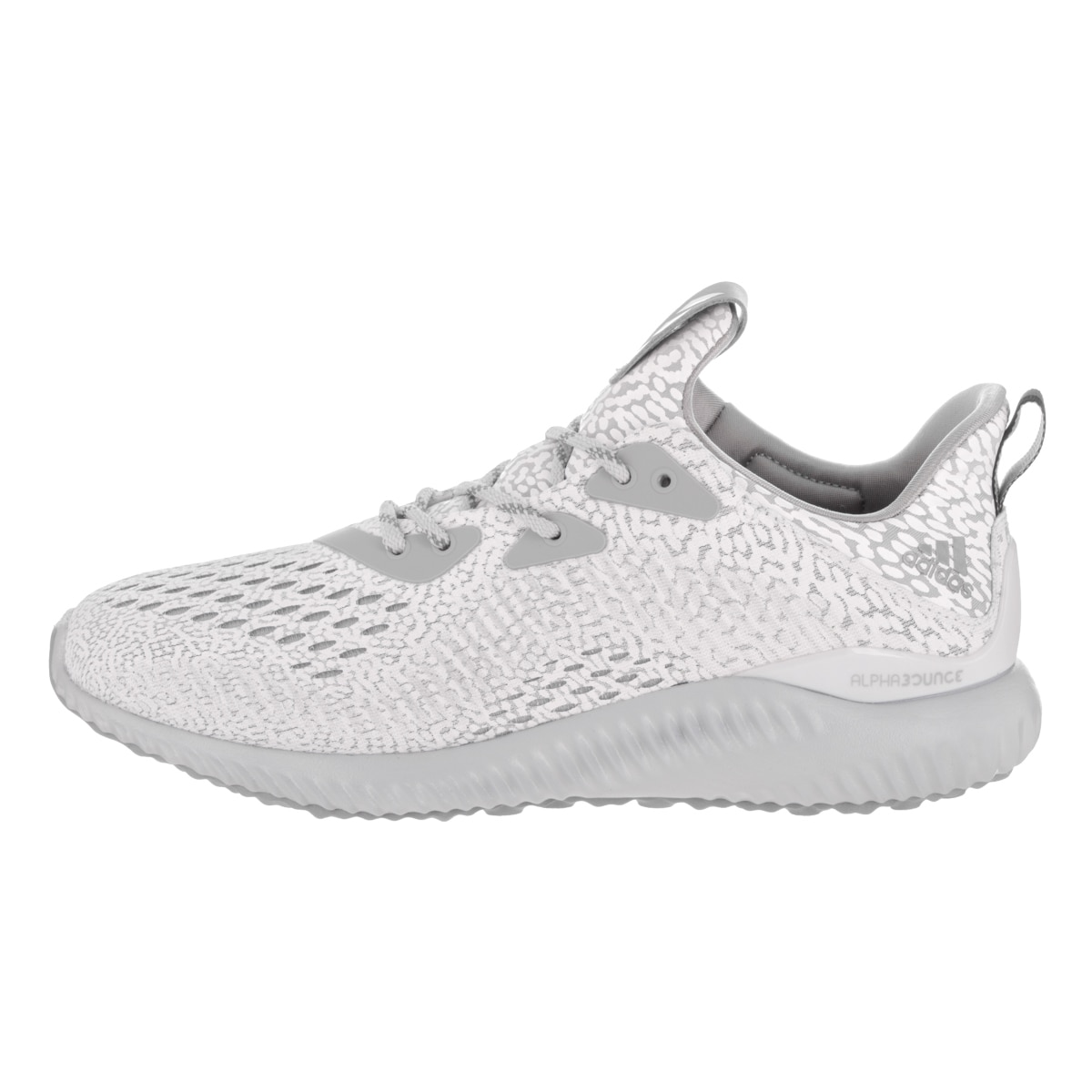 5c539d05489f4 Shop Adidas Women s Alphabounce AMS Grey Mesh Running Shoes - Free Shipping  Today - Overstock - 14548149