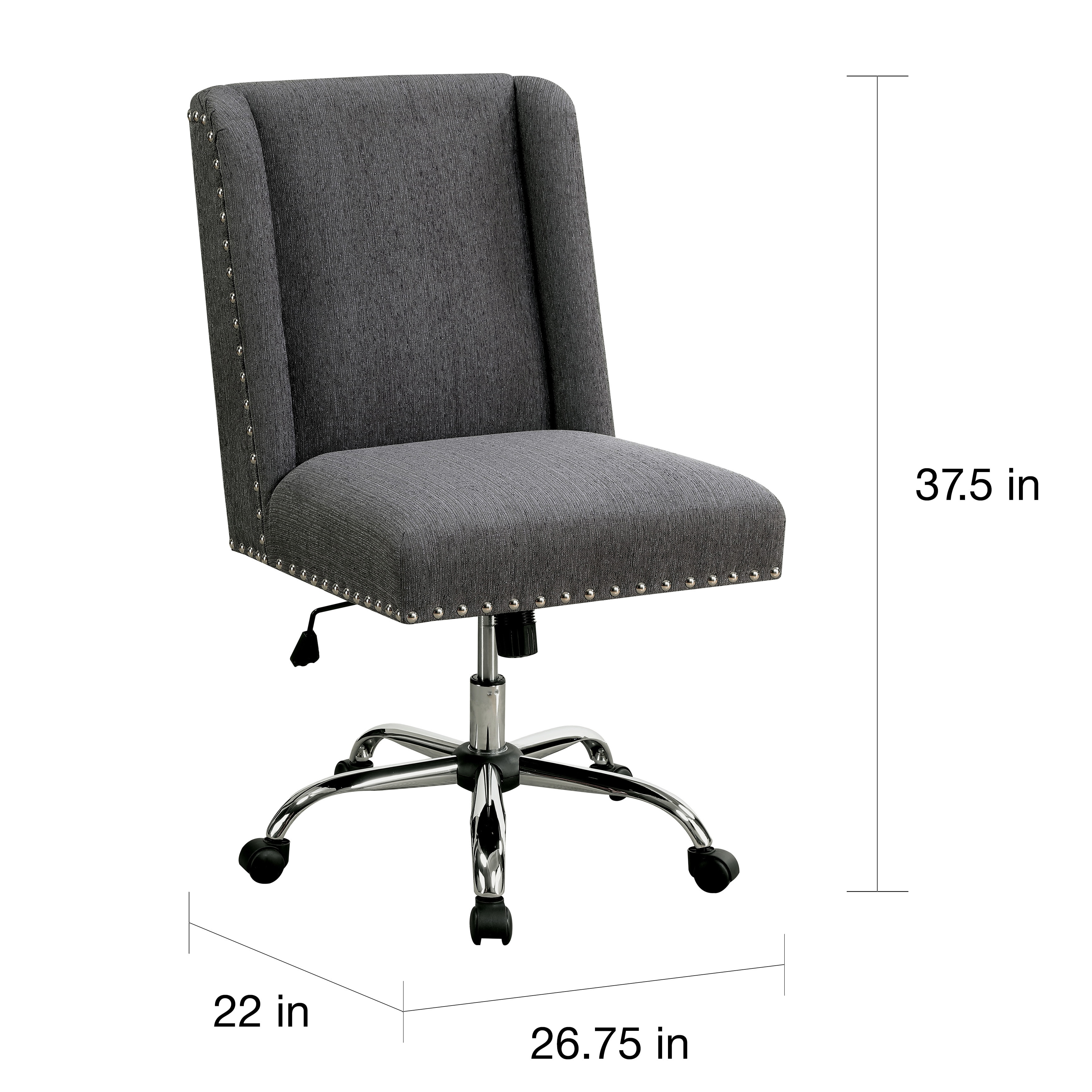 fabric office chairs with arms. Maison Rouge Gerard Contemporary Wingback Fabric Office Chair - Free Shipping Today Overstock 21101585 Chairs With Arms