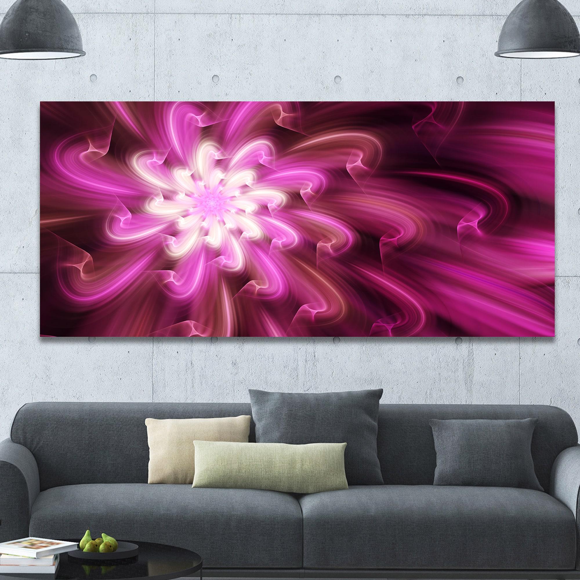Designart Exotic Dance Of Purple Flower Petals Extra Large Floral