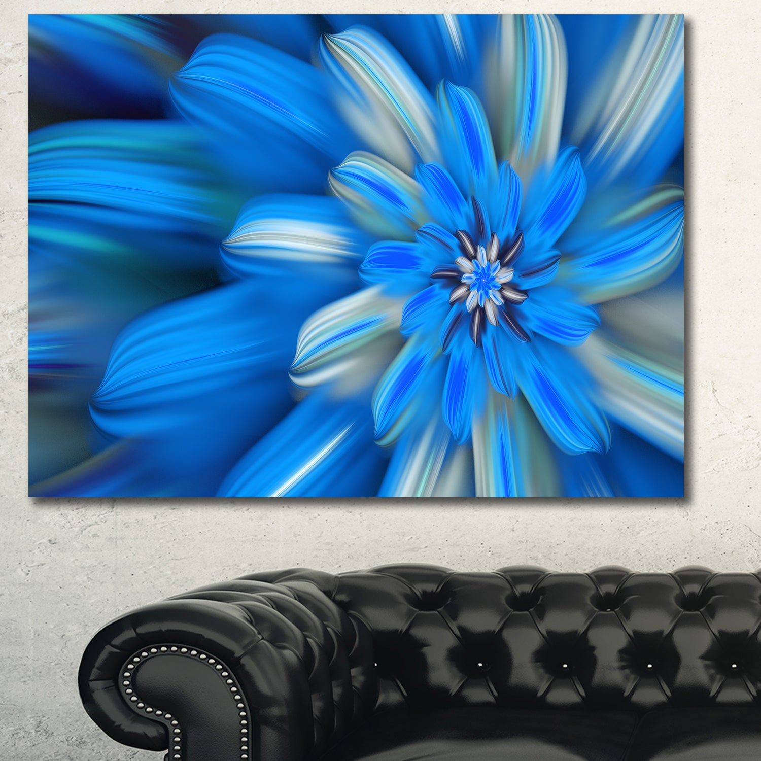 Shop designart exotic dance of blue flower petals extra large shop designart exotic dance of blue flower petals extra large floral canvas art print on sale free shipping on orders over 45 overstock izmirmasajfo