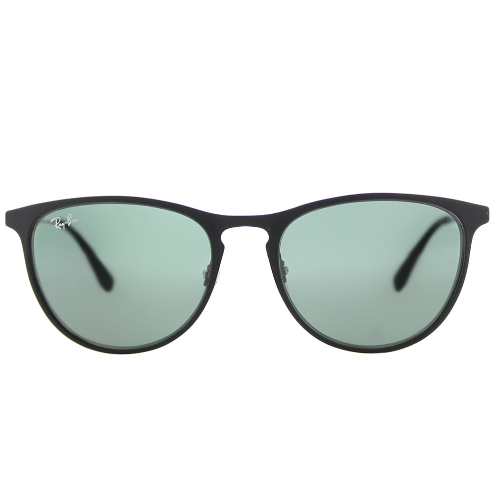 222e1680c75 Shop Ray-Ban Junior RJ 9538 251 71 Rubber Black Metal Square Children s  Sunglasses Green Lens - Free Shipping Today - Overstock - 14561303