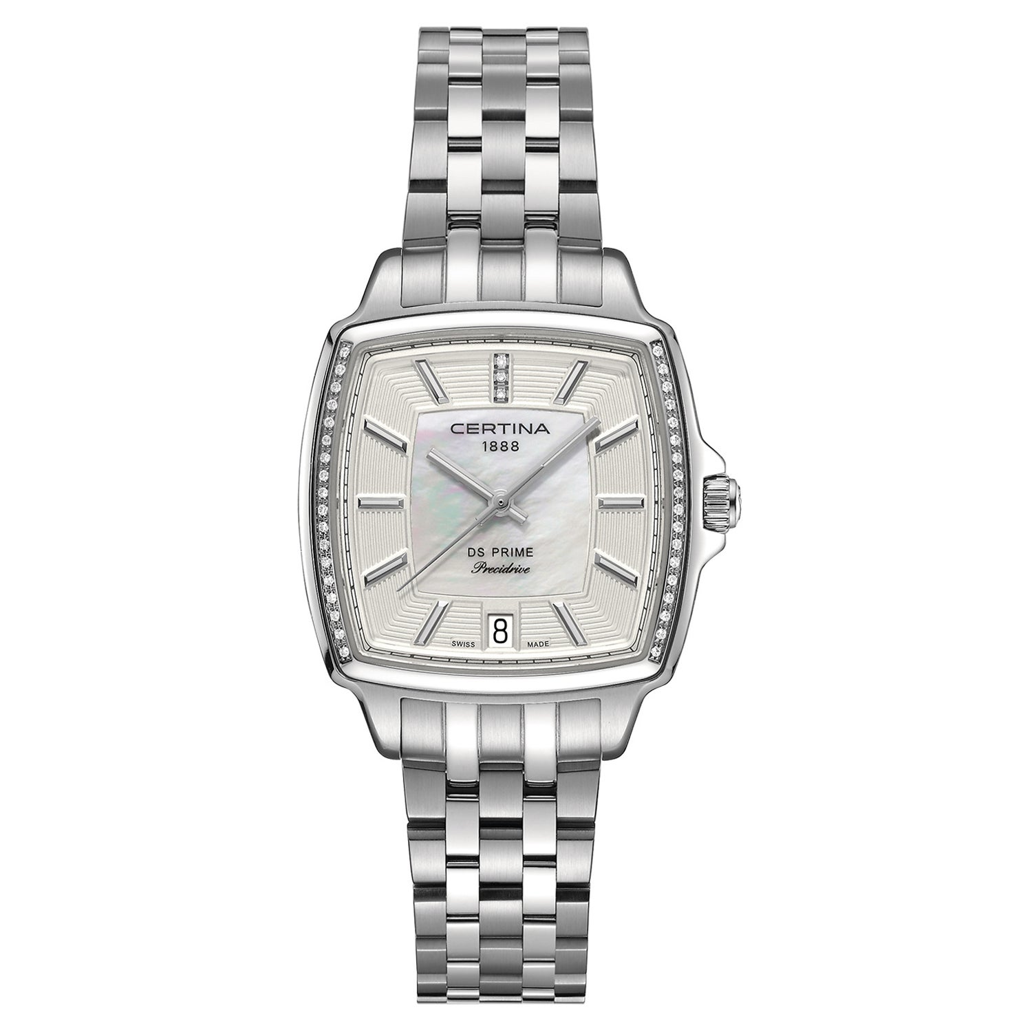 Shop Certina Women s DS Prime C028-310-61-116-00 Silver Strap with White  Mother-of-Pearl and Silver Dial Stainless Steel Watch - Free Shipping Today  ... a659092e922