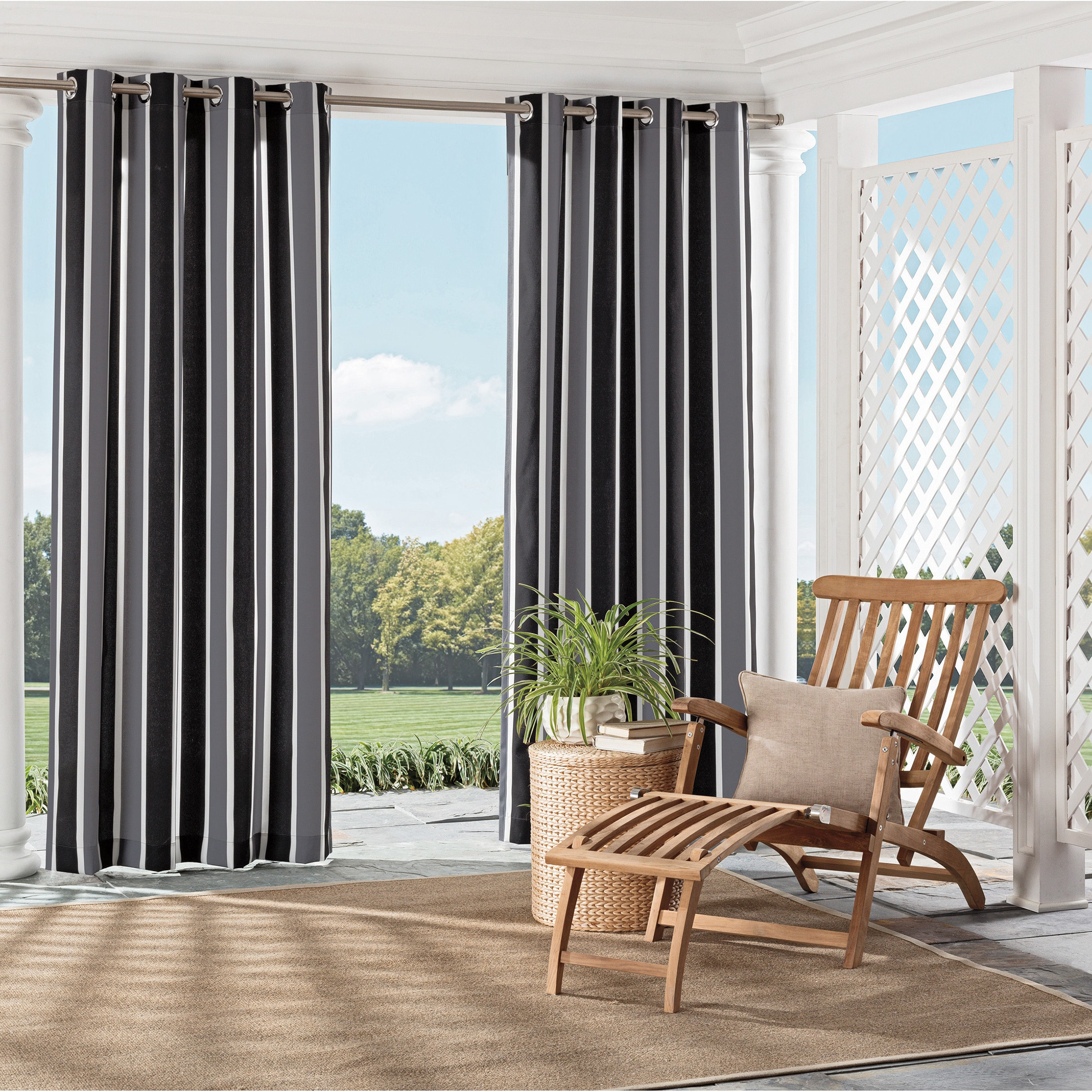 Parasol Coco Bay Indoor/Outdoor Curtains   Free Shipping On Orders Over $45    Overstock.com   21114221