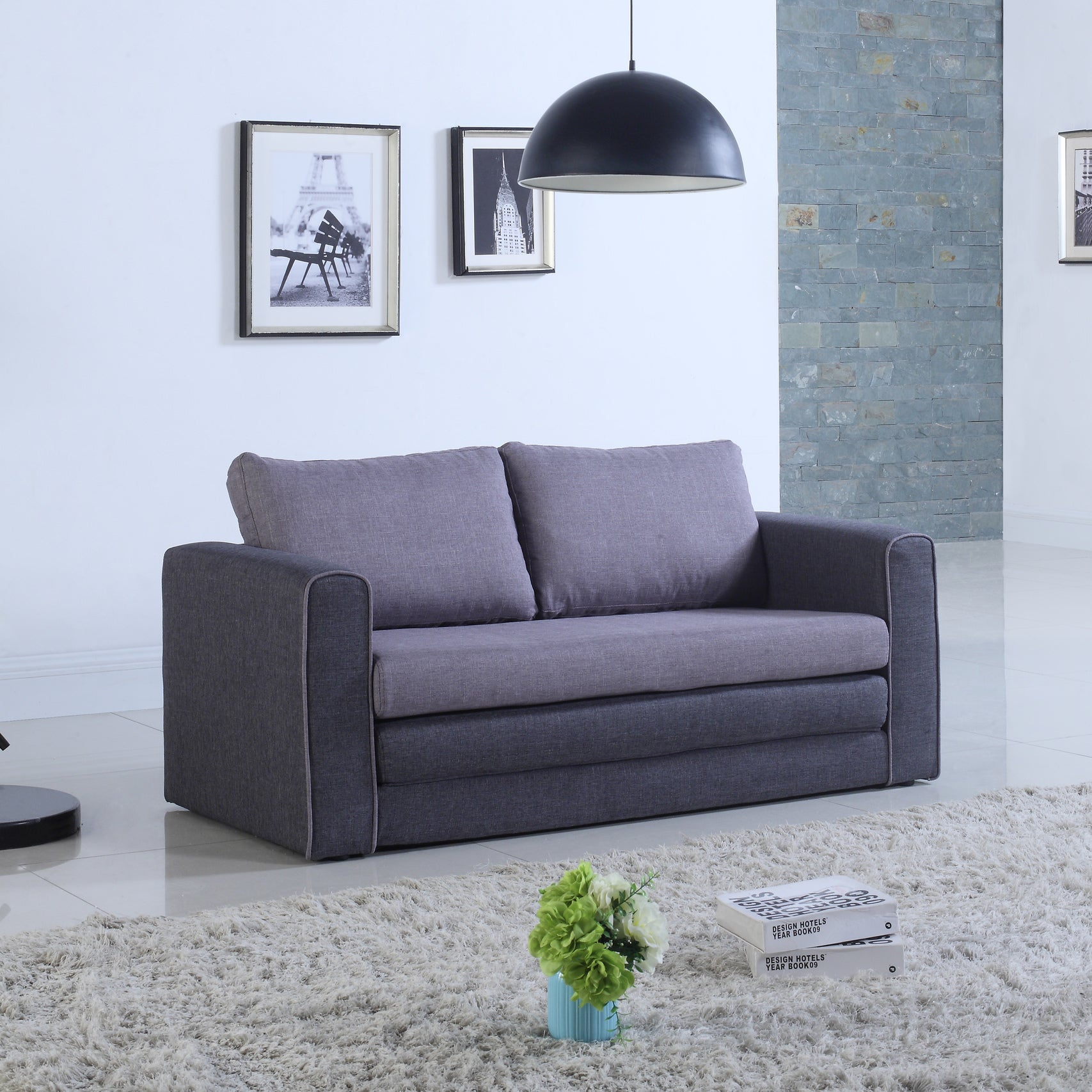 Attrayant Shop Modern Two Tone Sofa Bed   Free Shipping Today   Overstock.com    14565617