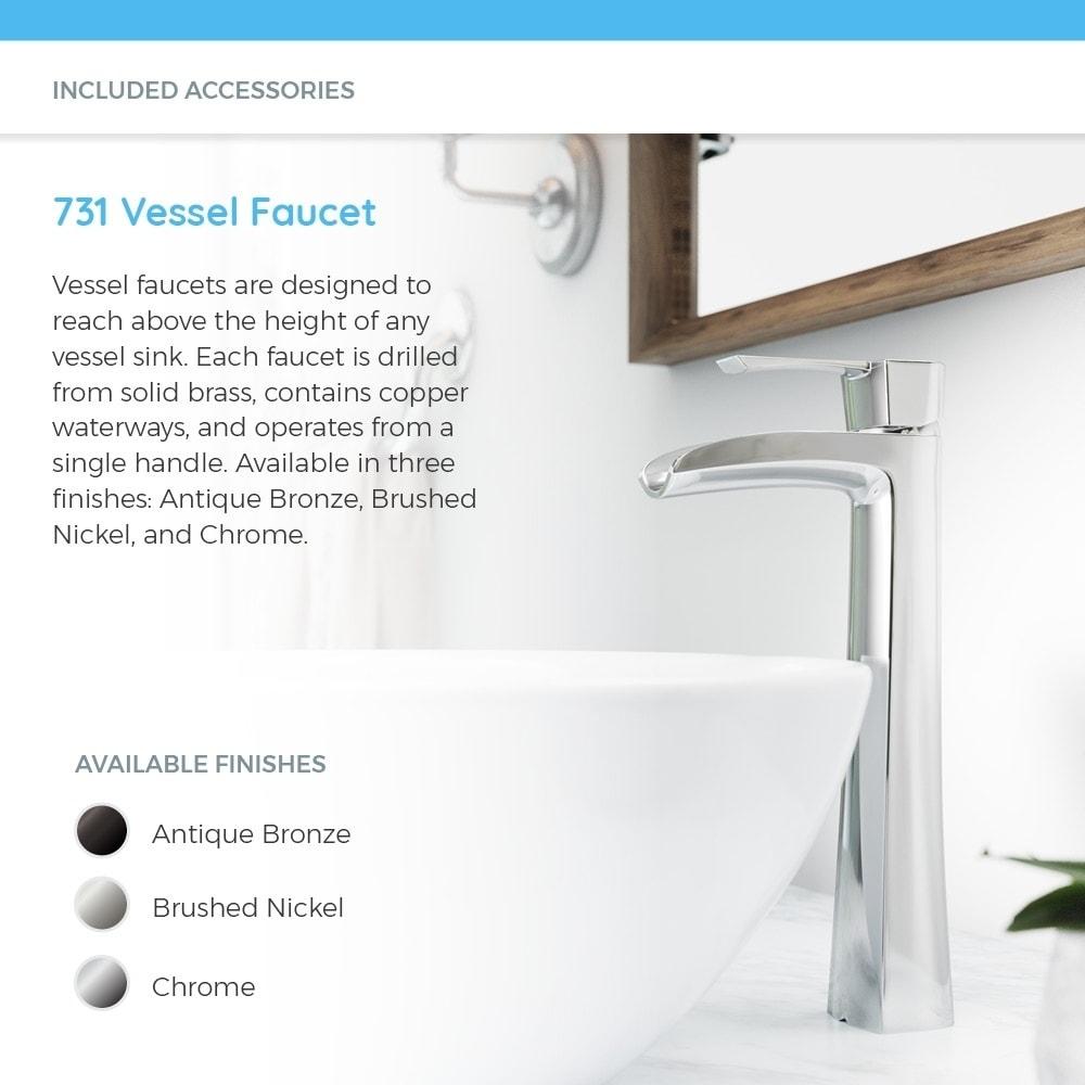Shop V1302 White Porcelain Sink with Antique Bronze Faucet and Pop ...