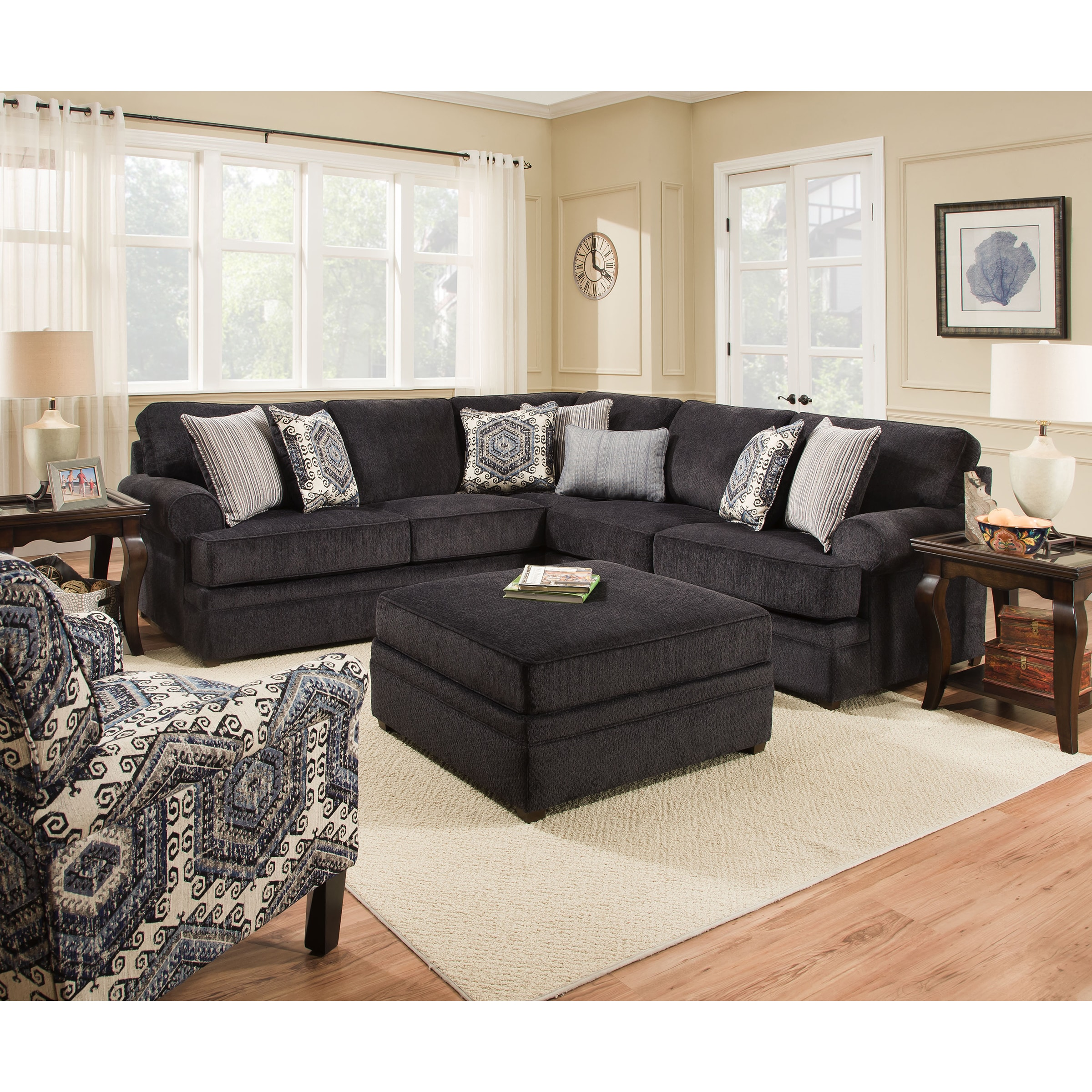 motion simmons home upholstery brown free shipping today product bingo overstock garden sectional