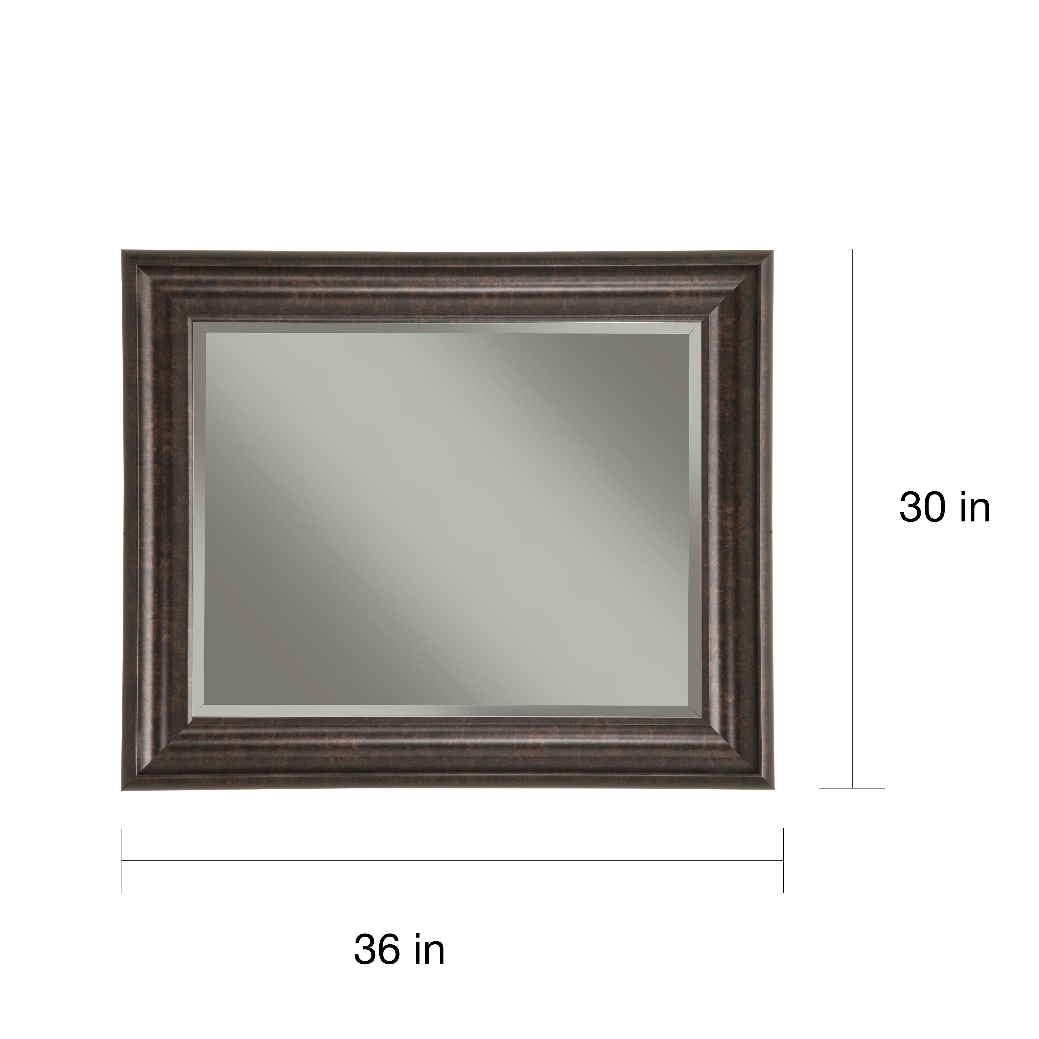 Sandberg Furniture Oil-rubbed Bronze 36 x 30-inch Wall Mirror - Free ...