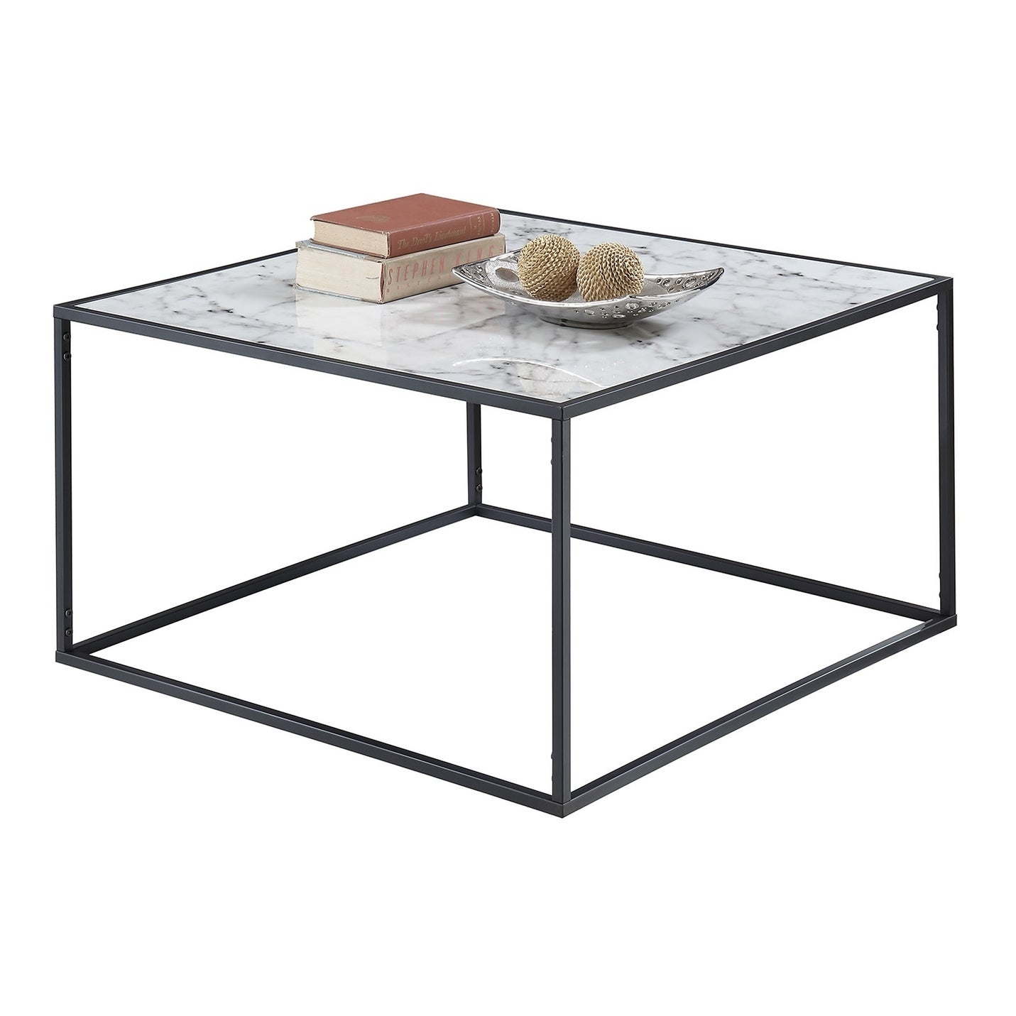 Shop Convenience Concepts Gold Coast Faux Marble Coffee Table   On Sale    Free Shipping Today   Overstock.com   14573935