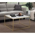 Convenience Concepts Gold Coast Faux Marble Coffee Table