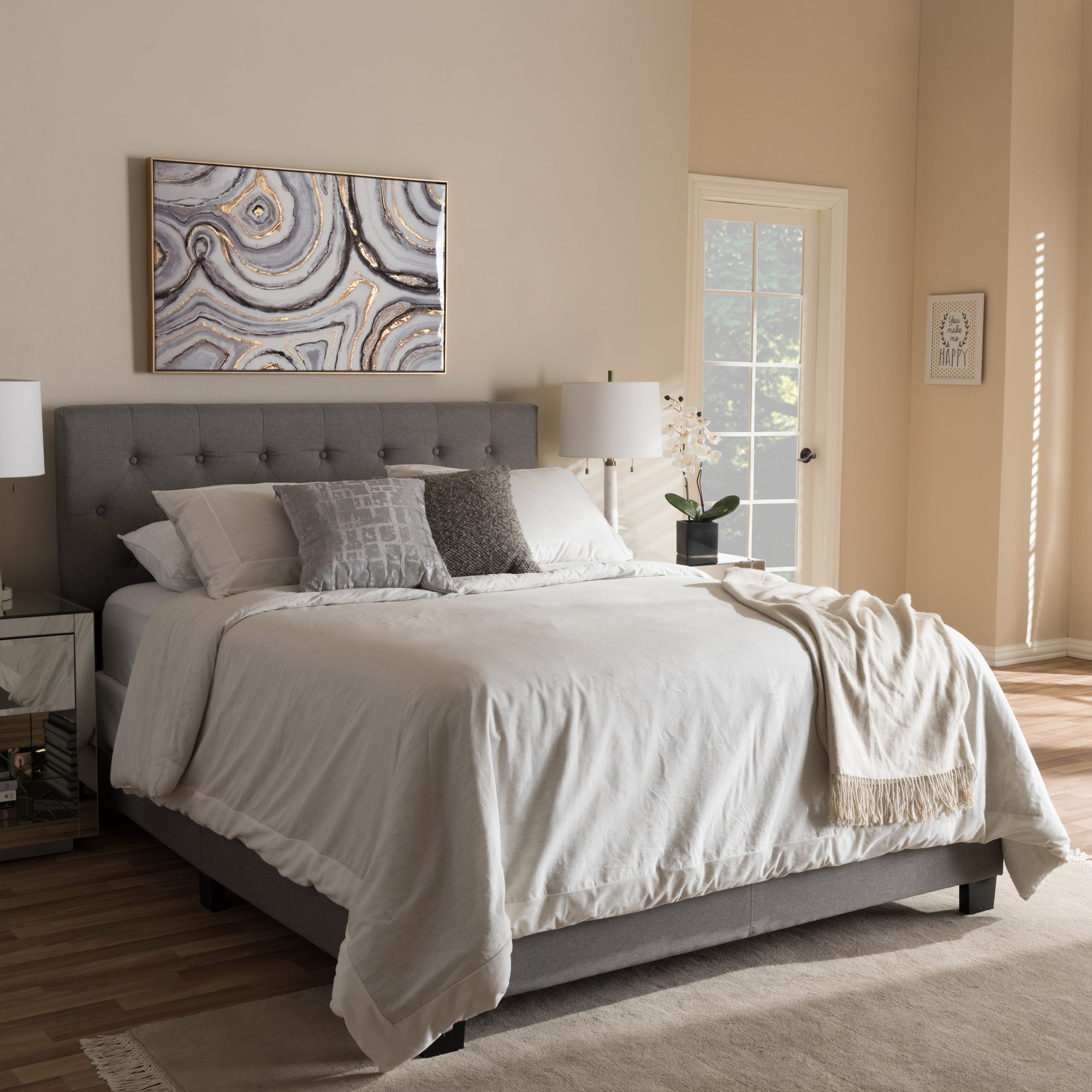 bedrooms upholstered by bistrol bristol bed fabric beds coaster queen