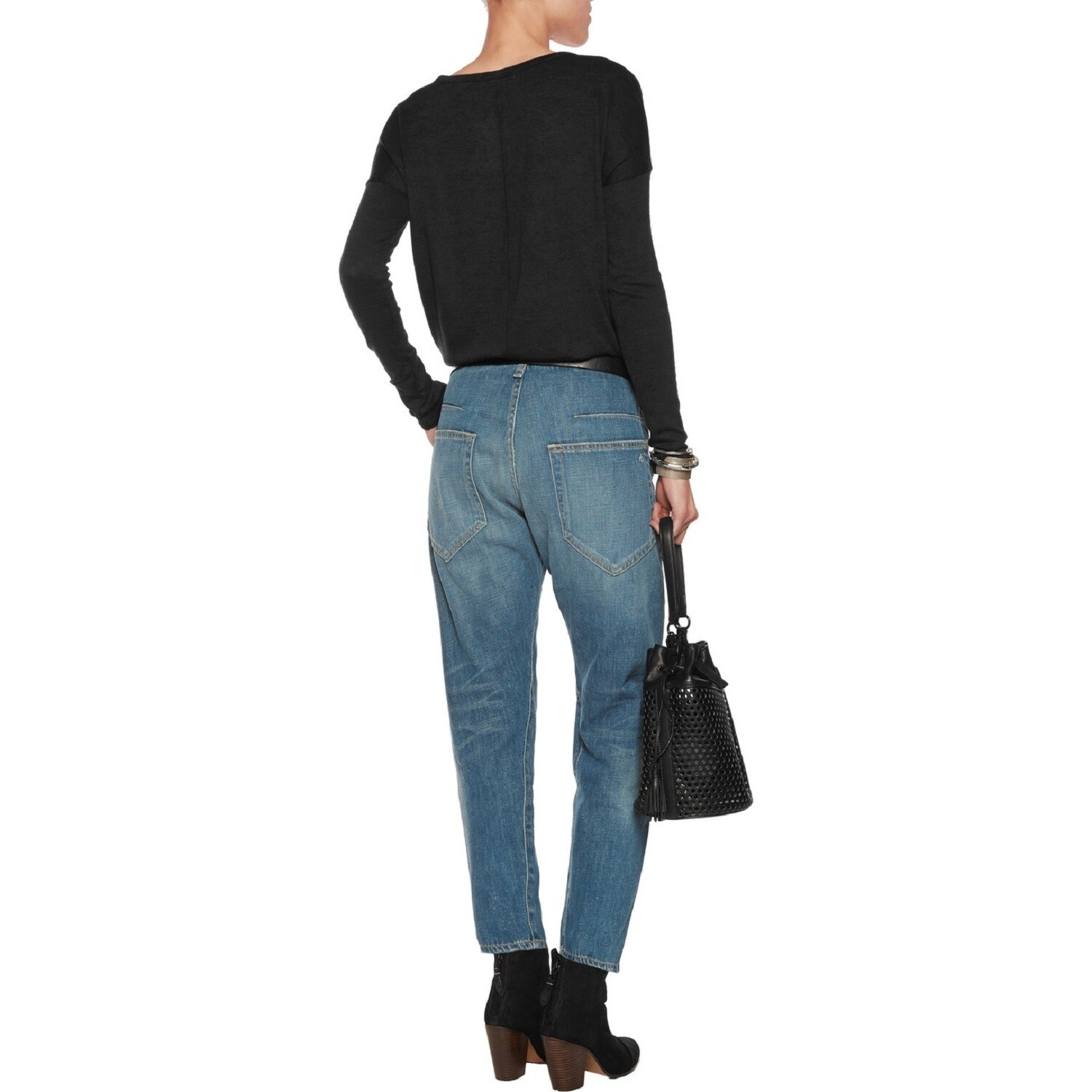 a57630ae61600 Shop Rag   Bone Women s Engineer Cropped Boyfriend Jeans - On Sale - Free  Shipping Today - Overstock - 14574226