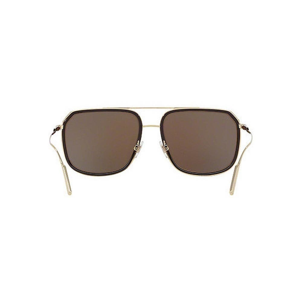 ff53cb18bb Shop Dolce   Gabbana Men s DG2165 488 73 58 Square Metal Plastic Brown  Brown Sunglasses - Free Shipping Today - Overstock - 14574304