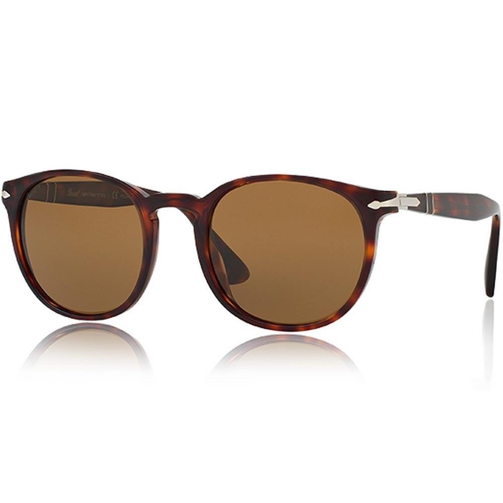 83c697aca4 Shop Persol Men s PO3157S 24 57 52 Round Plastic Havana Brown Sunglasses -  Free Shipping Today - Overstock - 14574415