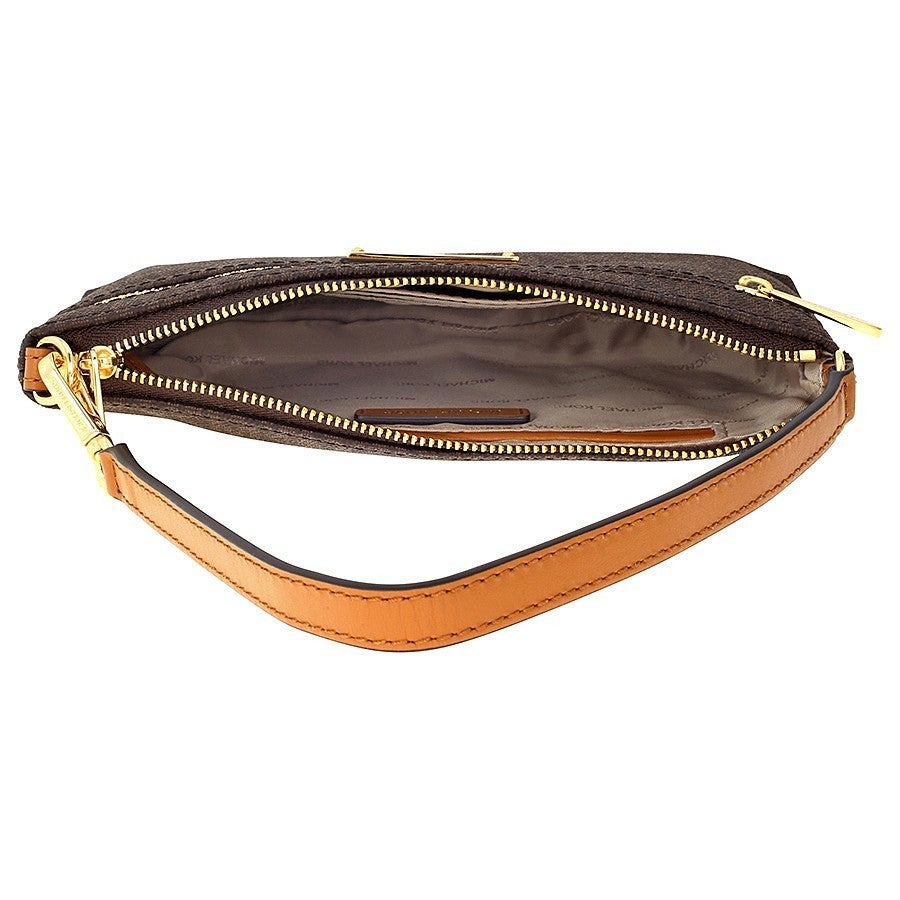 a80122dbd460 Shop Michael Kors Jet Set Large Brown Wristlet - Free Shipping Today -  Overstock - 14574602