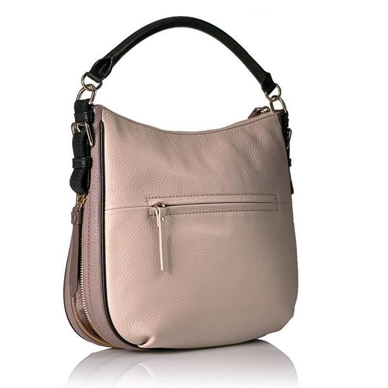 36ef389b37cf Shop Kate Spade Cobble Hill Ella Small Rose Cloud Black Porcini Shoulder  Handbag - Free Shipping Today - Overstock - 14576008