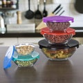 10-piece Glass Bowl Set with Lids by Chef Buddy