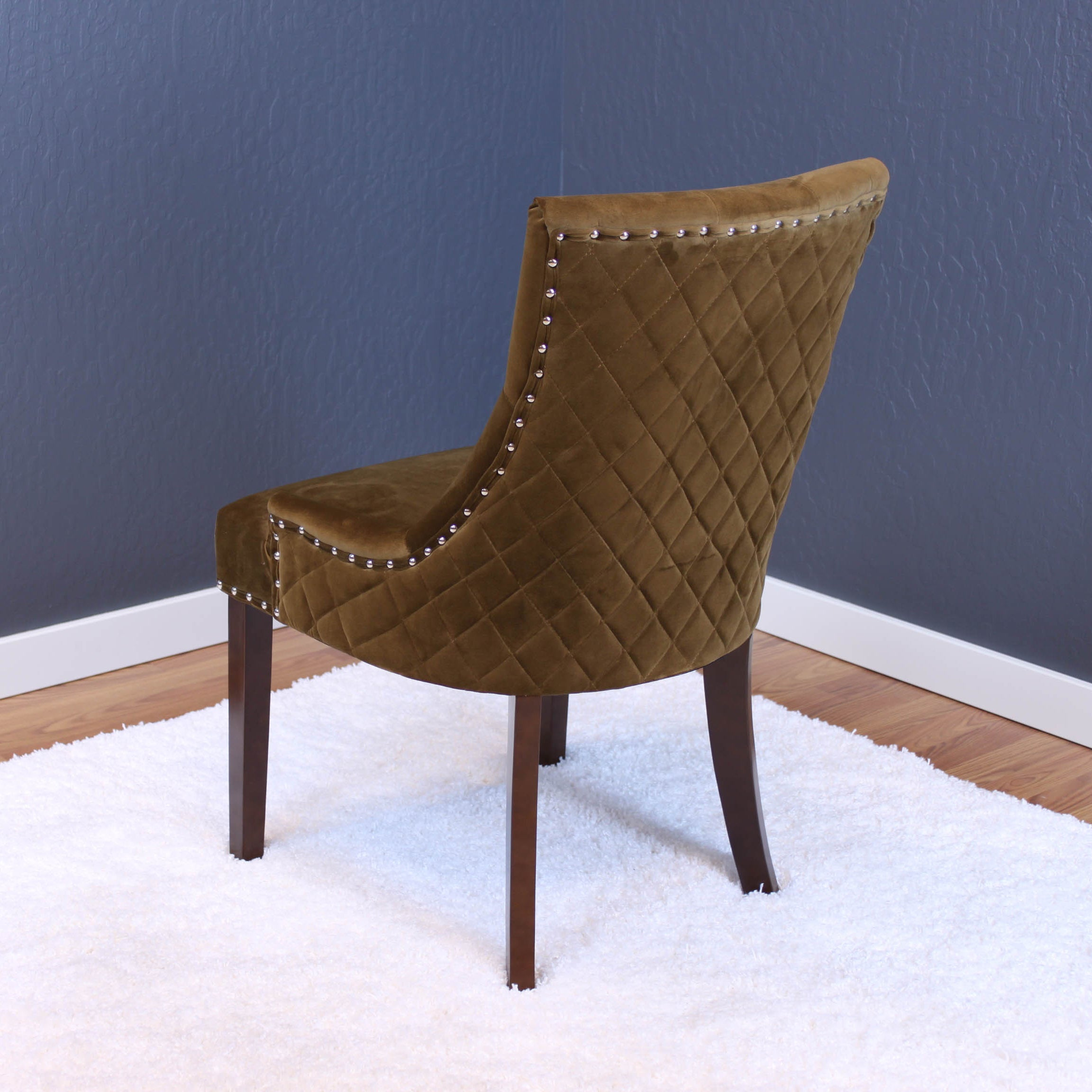 dining chairs brown. Lemele Tufted Velvet Dining Chairs (Set Of 2) - Free Shipping Today Overstock 21125790 Brown
