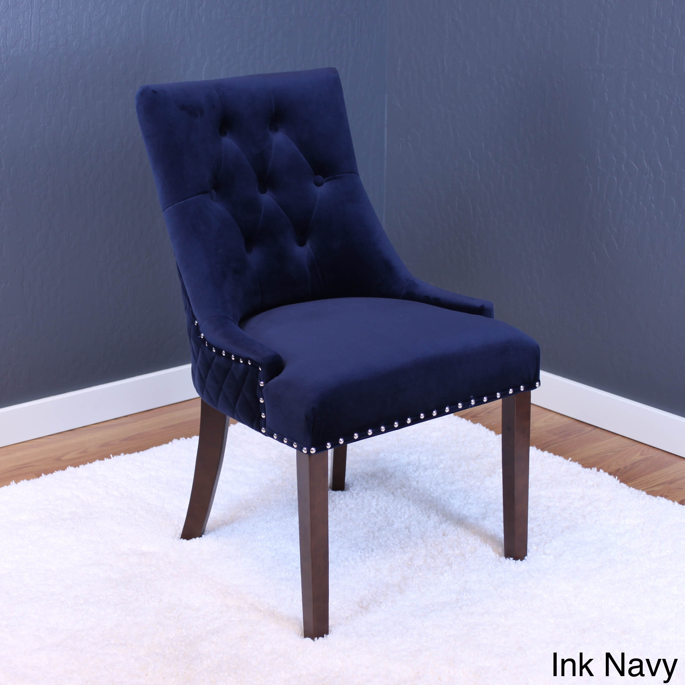 blue velvet dining chairs. Lemele Tufted Velvet Dining Chairs (Set Of 2) - Free Shipping Today Overstock 21125790 Blue V