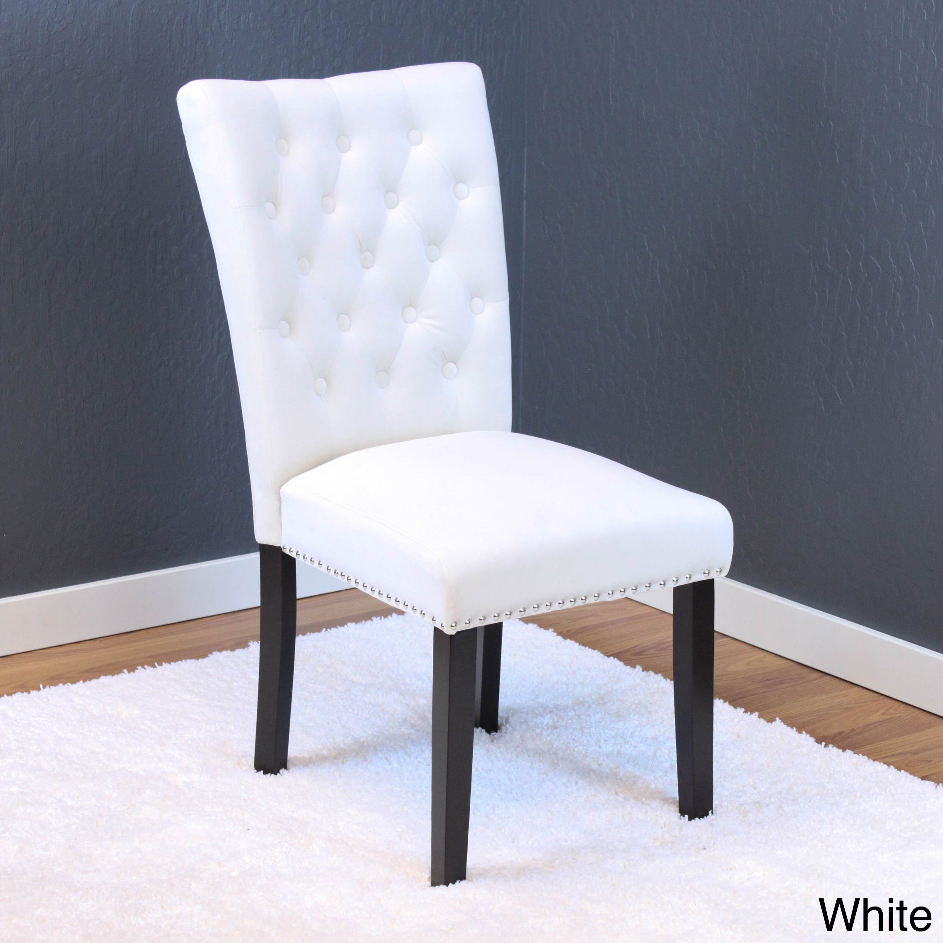 Velvet Dining Chairs Part - 47: Markelo Tufted Velvet Dining Chairs (Set Of 2) - Free Shipping Today -  Overstock.com - 21125797