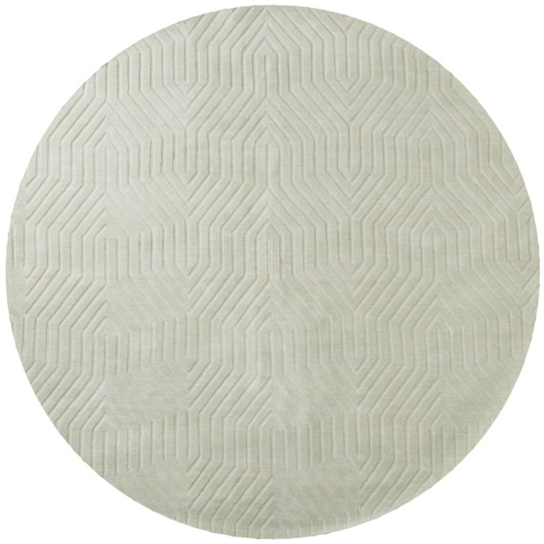 Rizzy Home Light Grey Wool Hand Loomed Solid Round Area Rug 8 X On Free Shipping Today 14580397