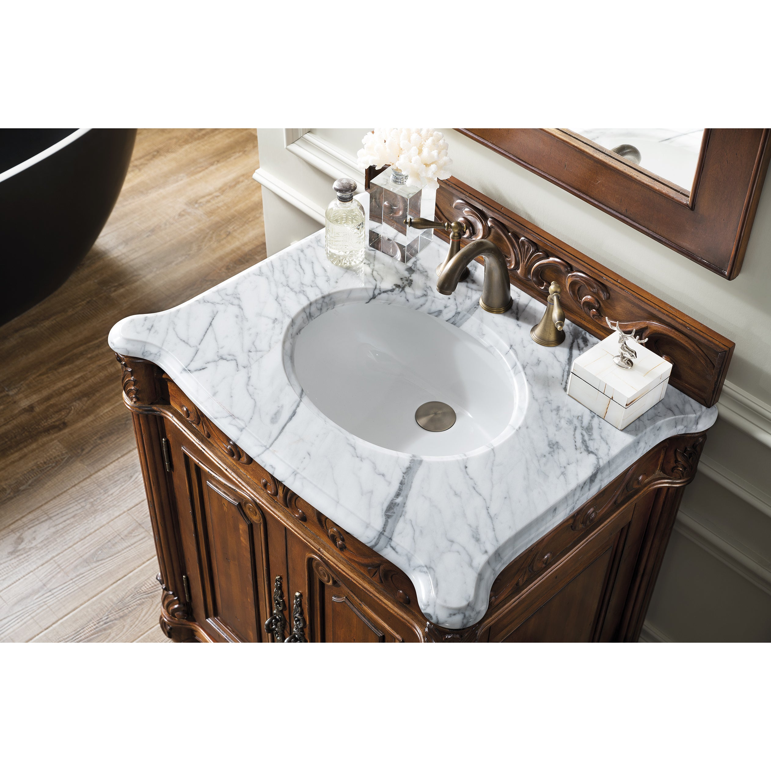 Shop St James Cherry 30 Inch Single Bathroom Vanity Free Shipping