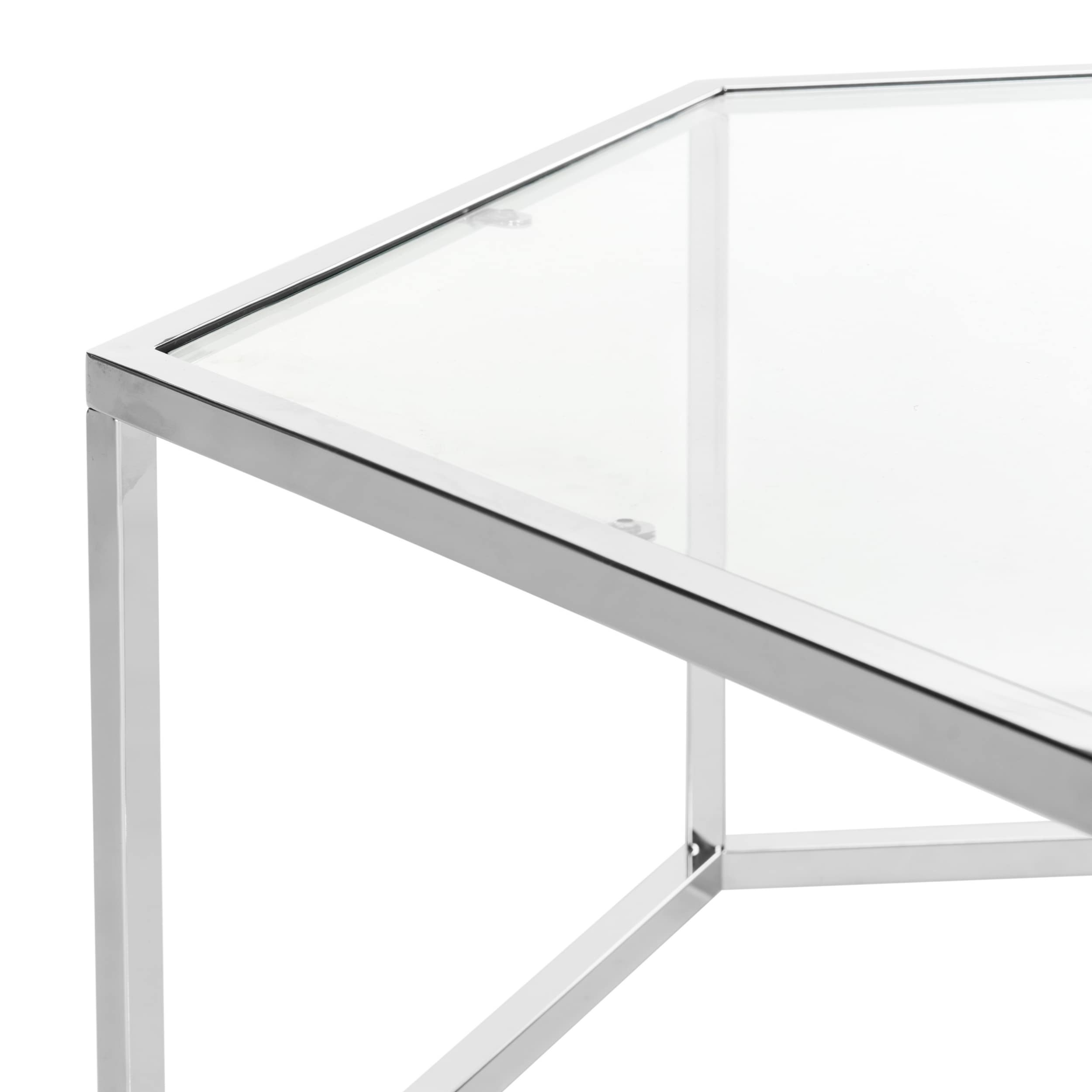 Shop Safavieh Eliana Glass Chrome Coffee Table   Free Shipping Today    Overstock.com   14585174