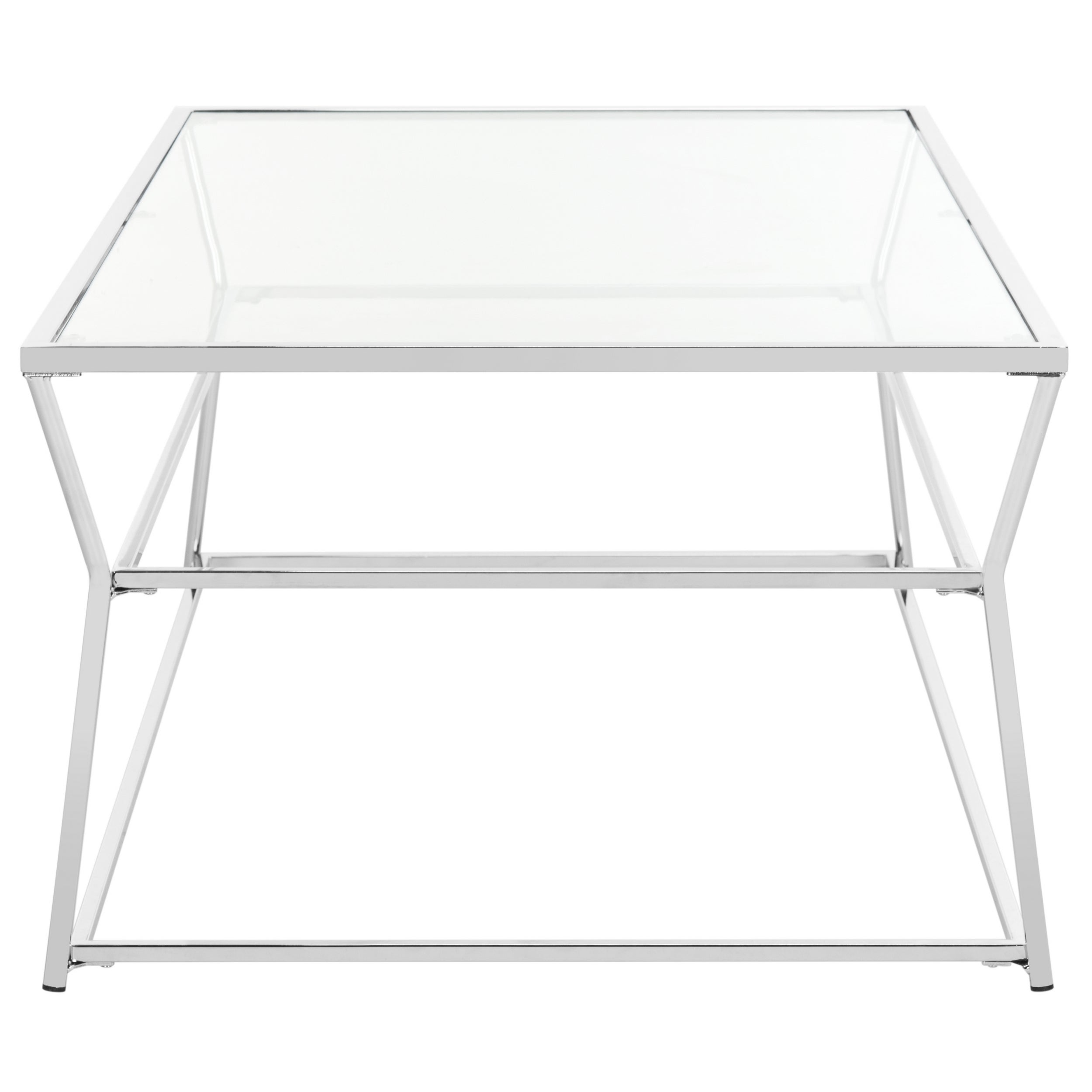 Safavieh Ellie Glass Chrome Coffee Table   Free Shipping Today   Overstock    21131464