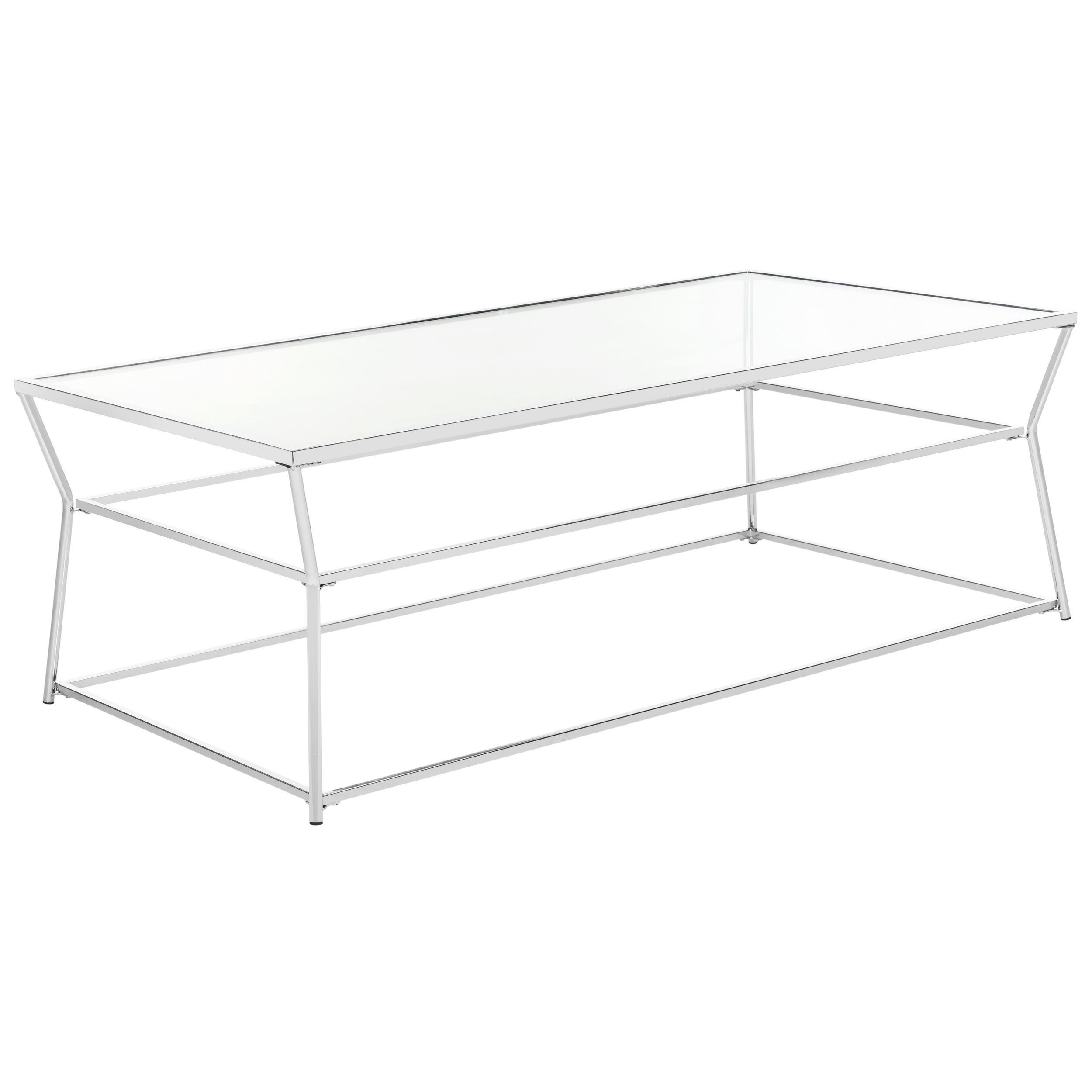 Safavieh Ellie Glass Chrome Coffee Table Free Shipping Today