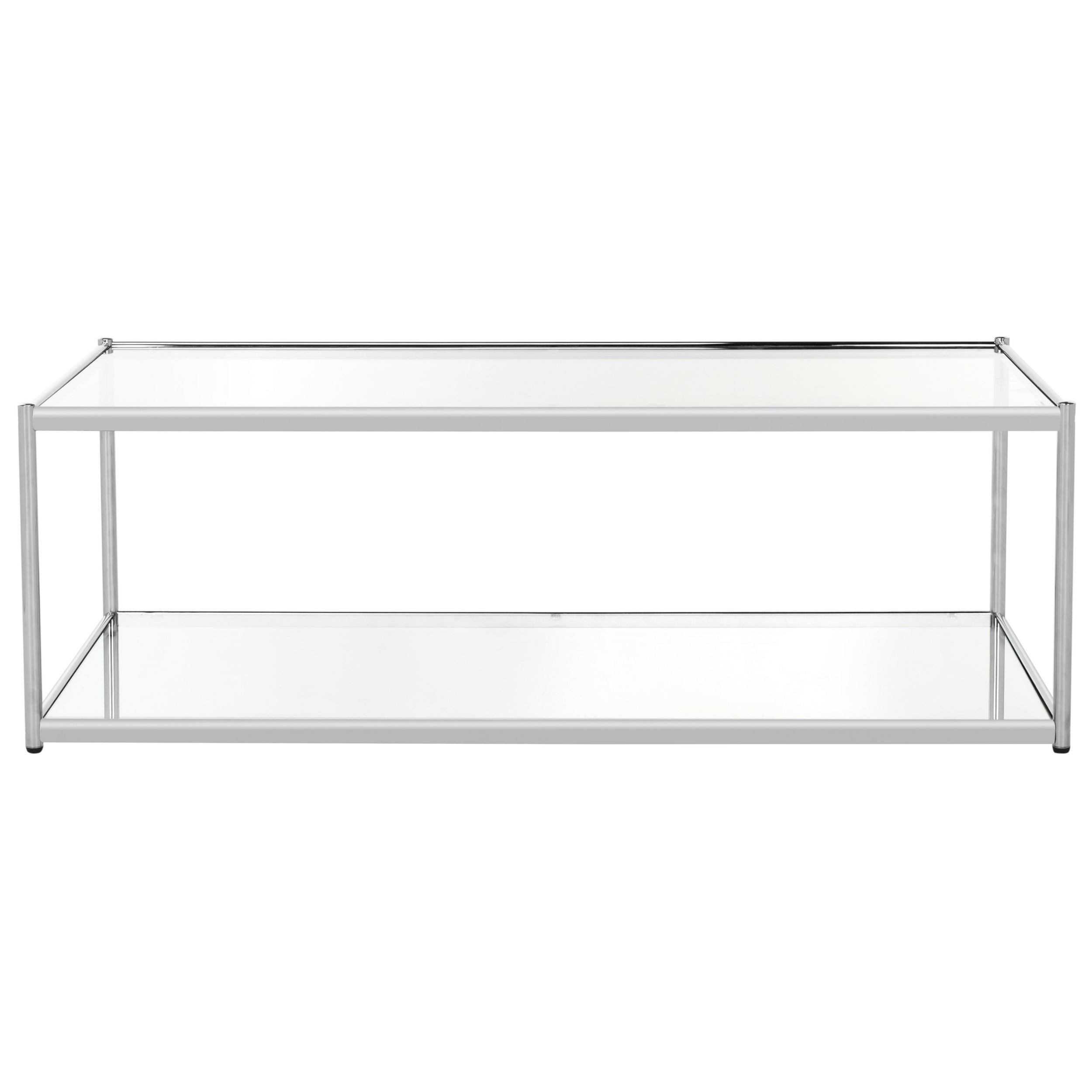 Safavieh Zola Glass Chrome Coffee Table   Free Shipping Today    Overstock.com   21131466