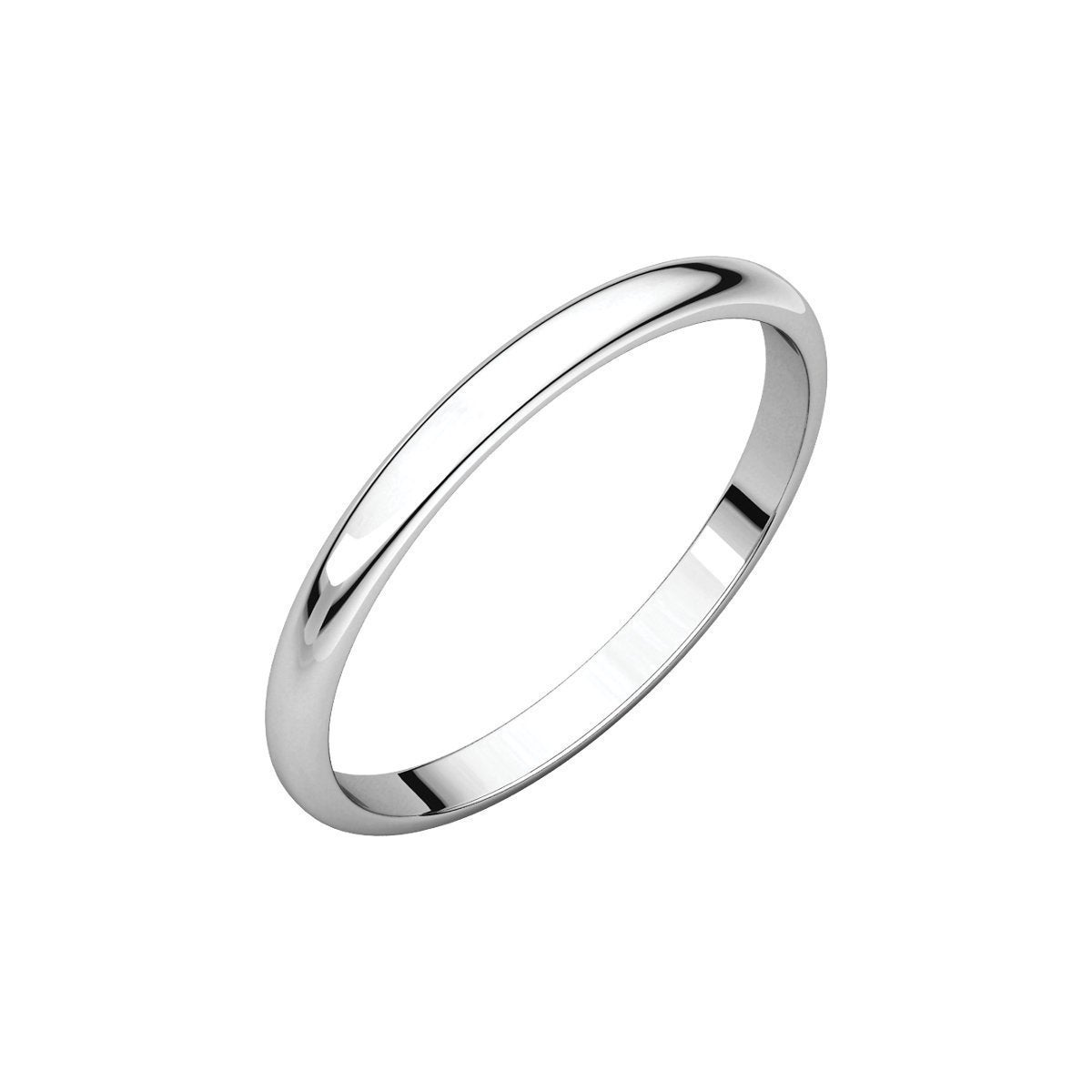 10k White Gold 2 Mm Half Round Wedding Band: Thin Wedding Bands For Women Arthritis At Websimilar.org