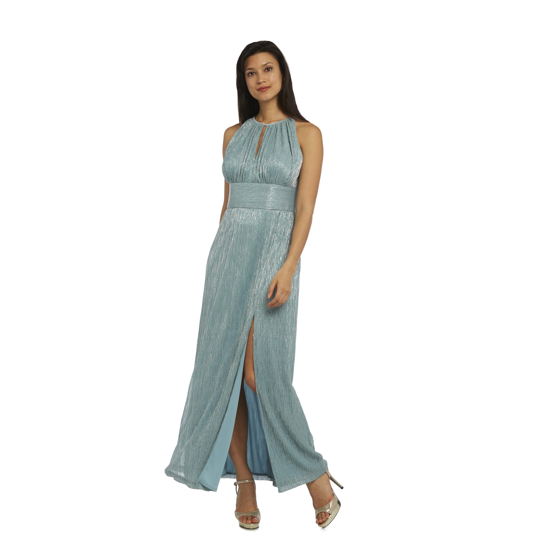 Shop R&M Richards Halter Neck Slit Evening Gown - On Sale - Free ...