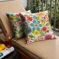 Galliford Multi Floral Indoor/ Outdoor Knife Edge Pillow Set