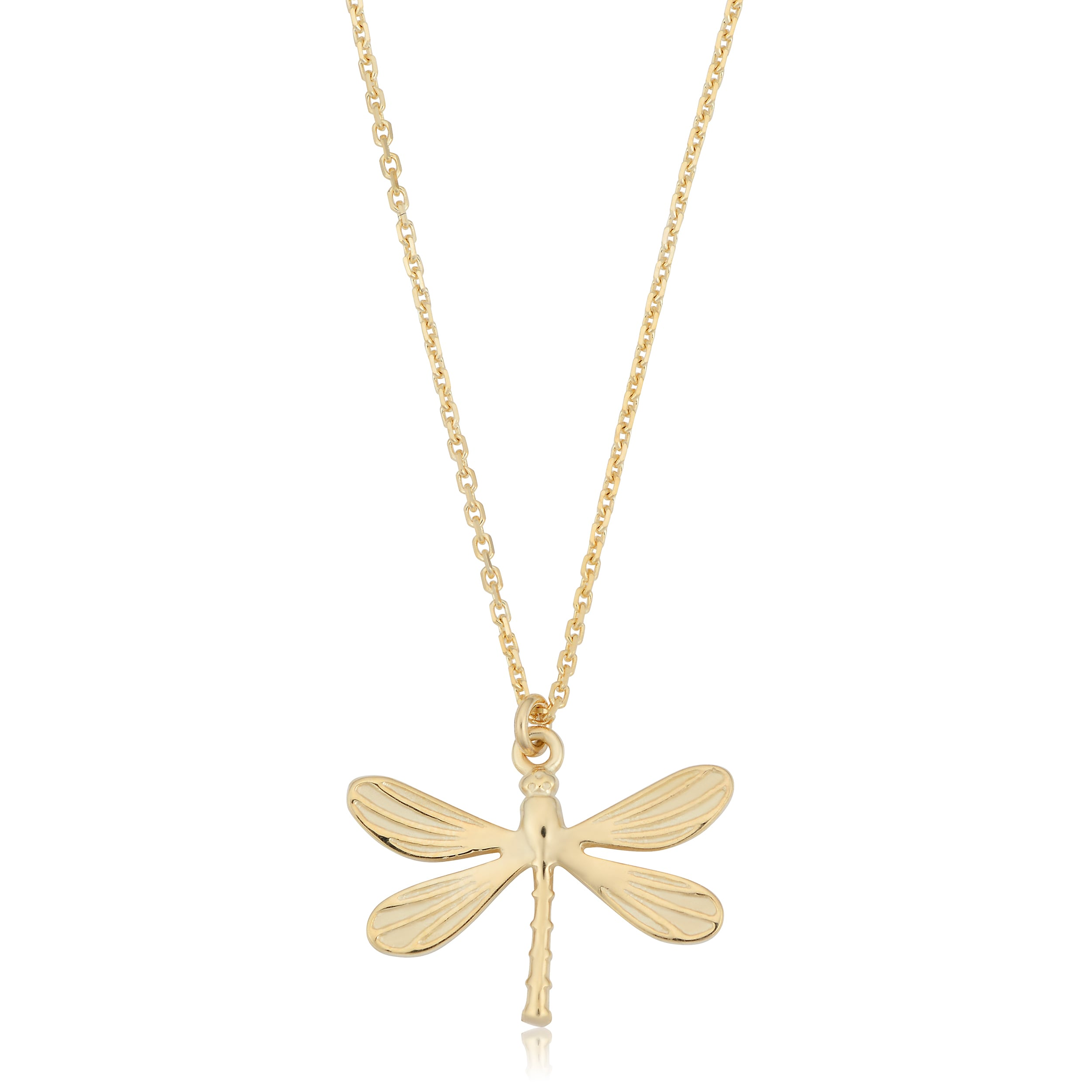 pendant dragonfly gold sterling plated diamonds necklace jewelry with in silver