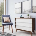 Mid-Century White and Brown Chest by Baxton Studio