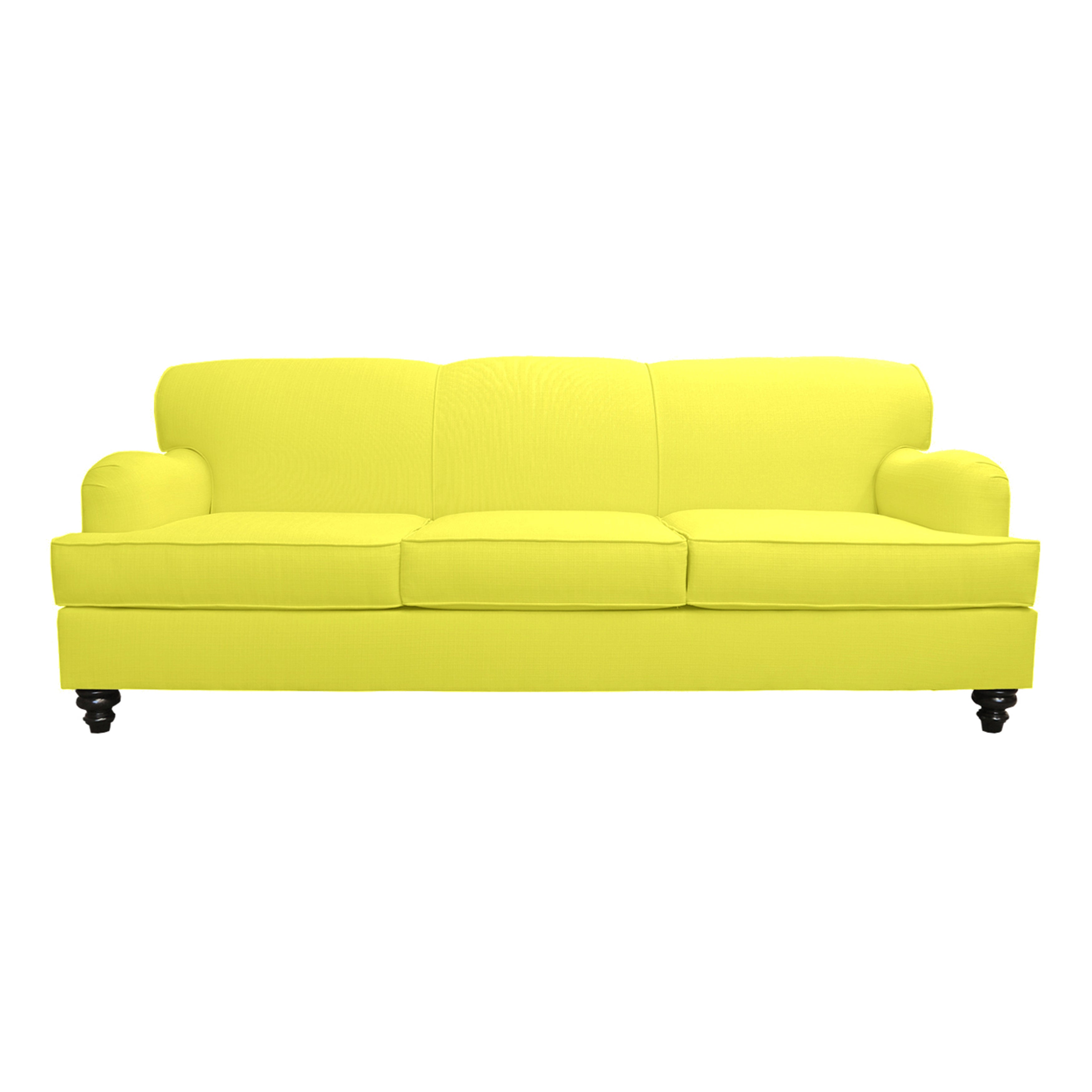 Alice Tradtional Roll Arm Sofa Free Shipping Today Overstock  ~ Rolled Arm Leather Sofa