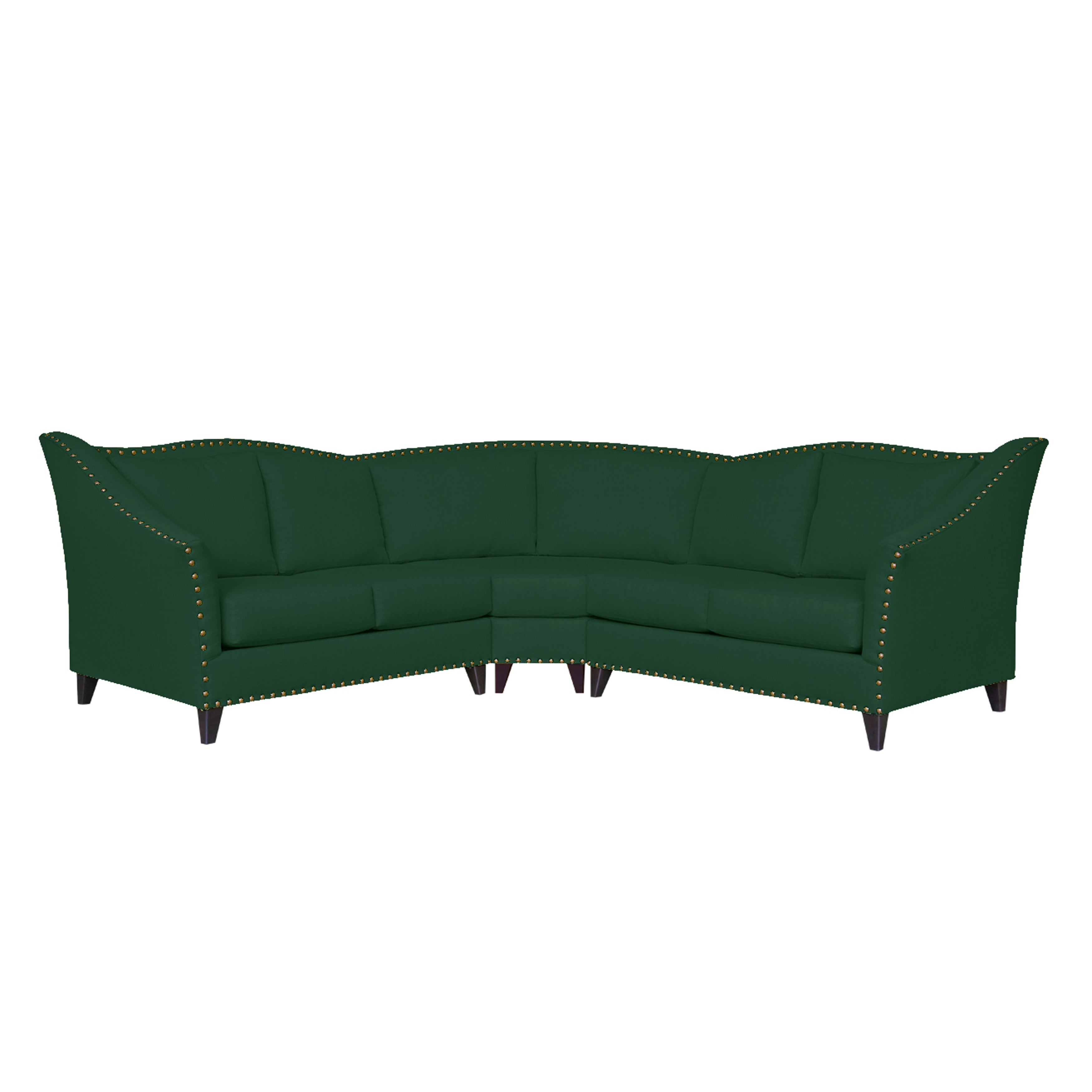 and sofa green colyn emerald brushed stainless in couch chaise sectional reversible