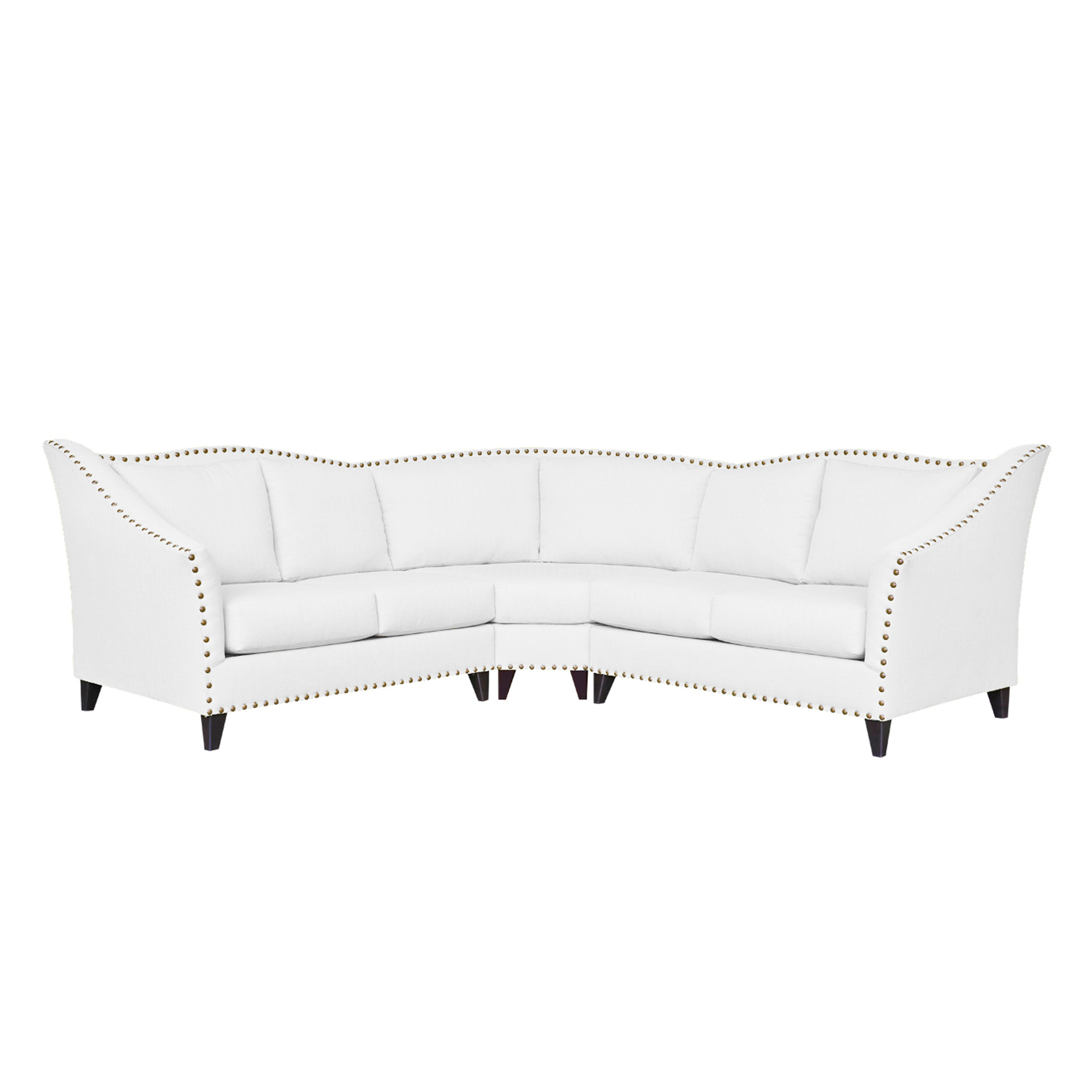 Shop Carolina Traditional Curved Sectional Sofa   Free Shipping Today    Overstock.com   14587760