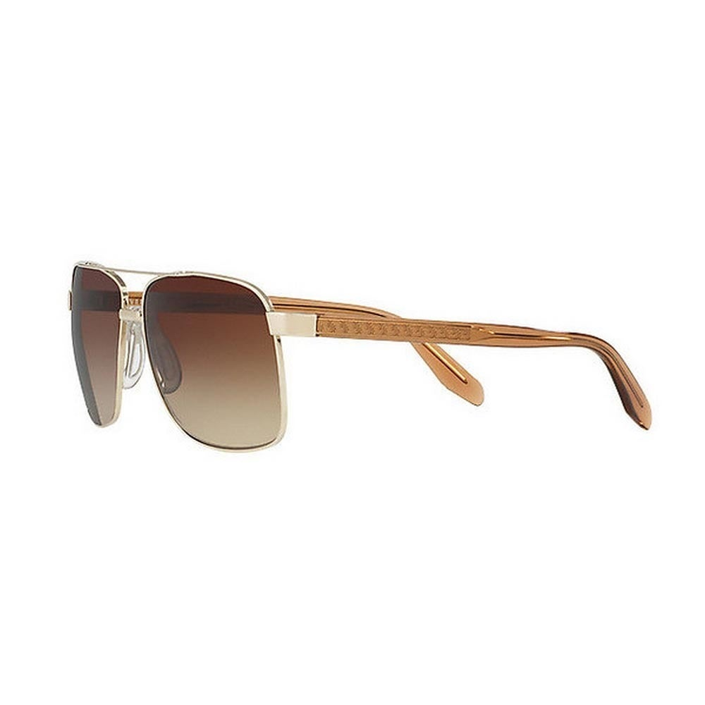 7d859c7fd2 Shop Versace Men s VE2174 125213 59 Square Metal Plastic Gold Brown  Sunglasses - Free Shipping Today - Overstock - 14593696