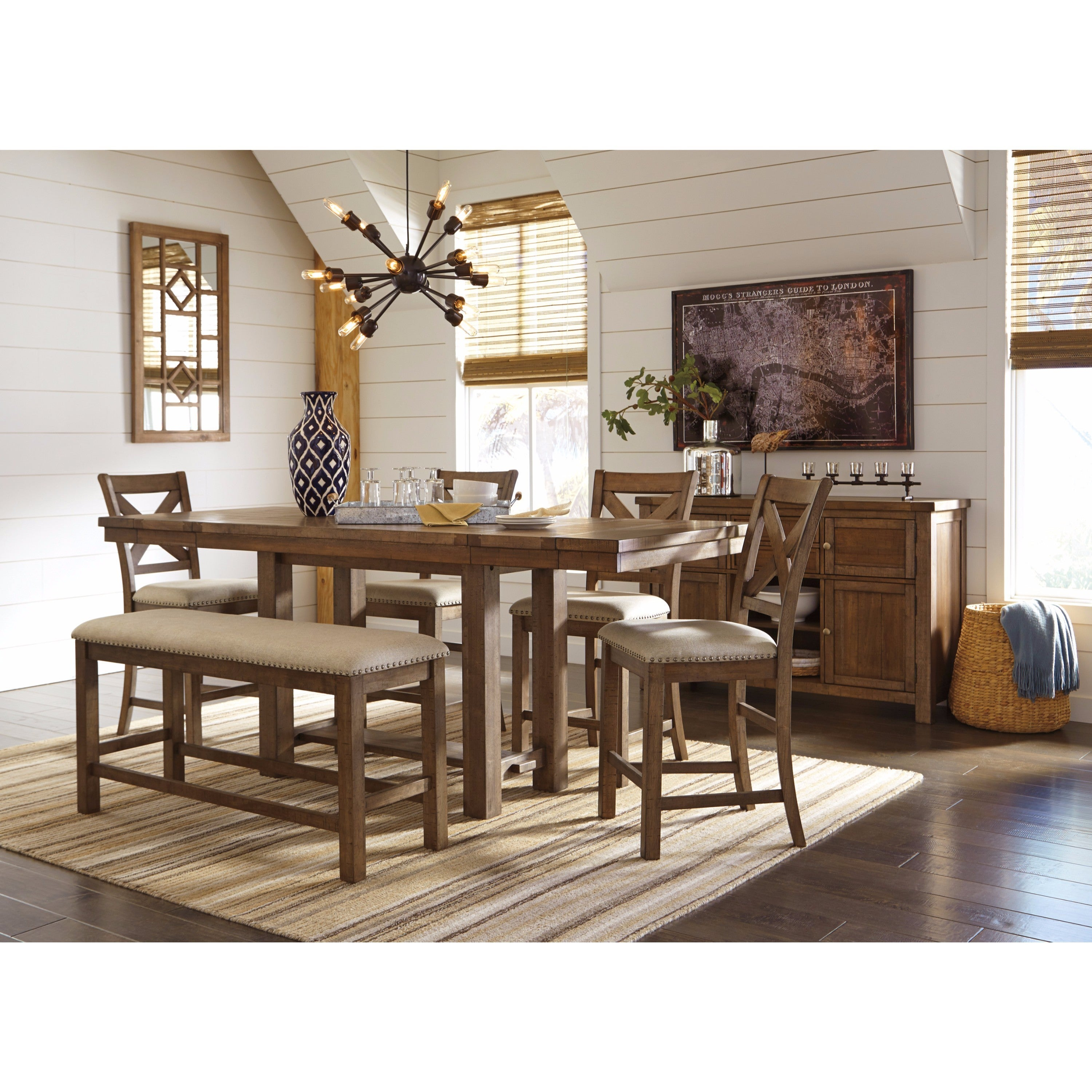 Signature Design By Ashley Moriville Beige Dining Set   Free Shipping Today    Overstock.com   21139564