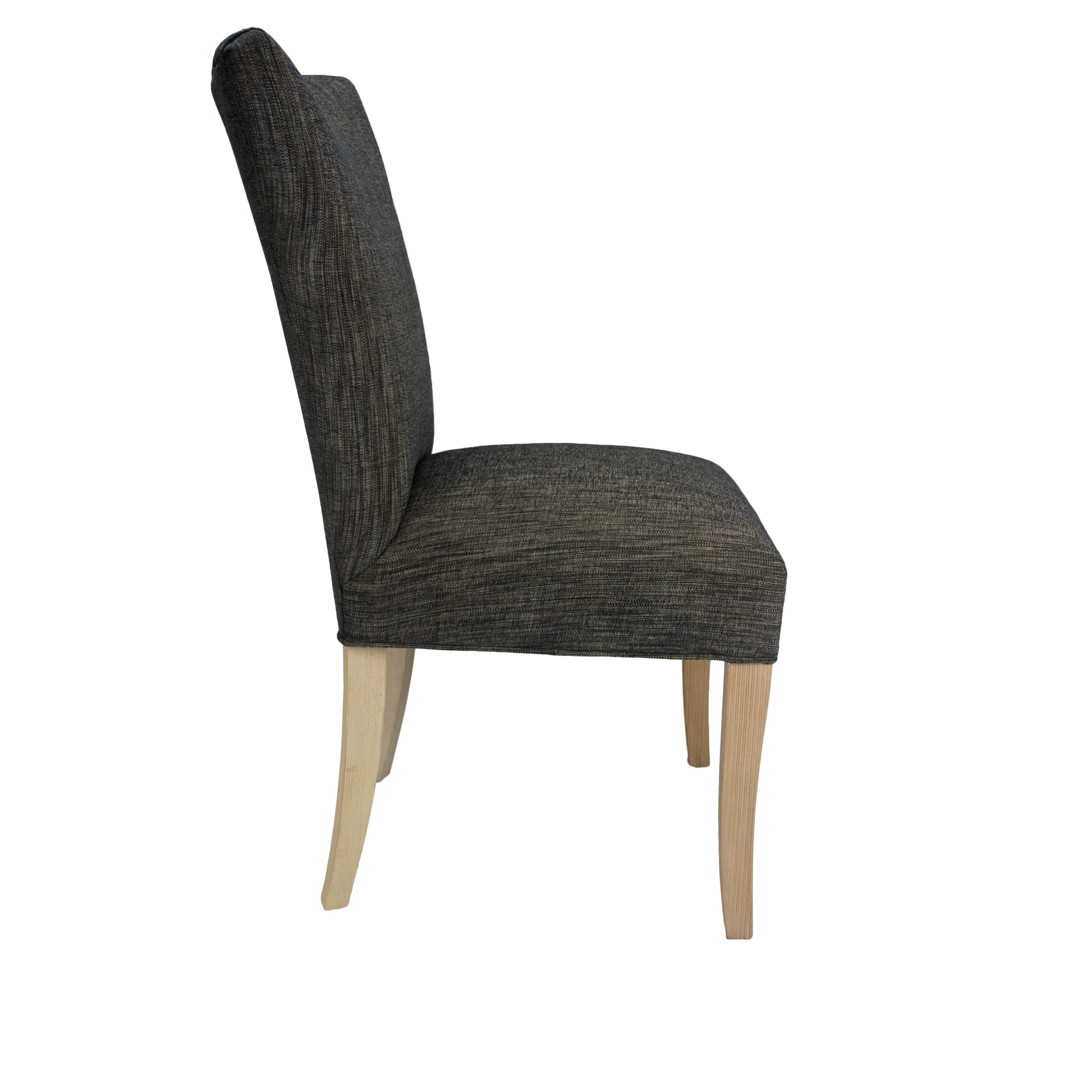 074f3220e194 Shop BELLA Lucky Phantom Natural Wooden Legs Upholstered Dining Chairs (Set  of 2) - 25 inches long x 20 inches wide x 36 inches high - On Sale - Free  ...
