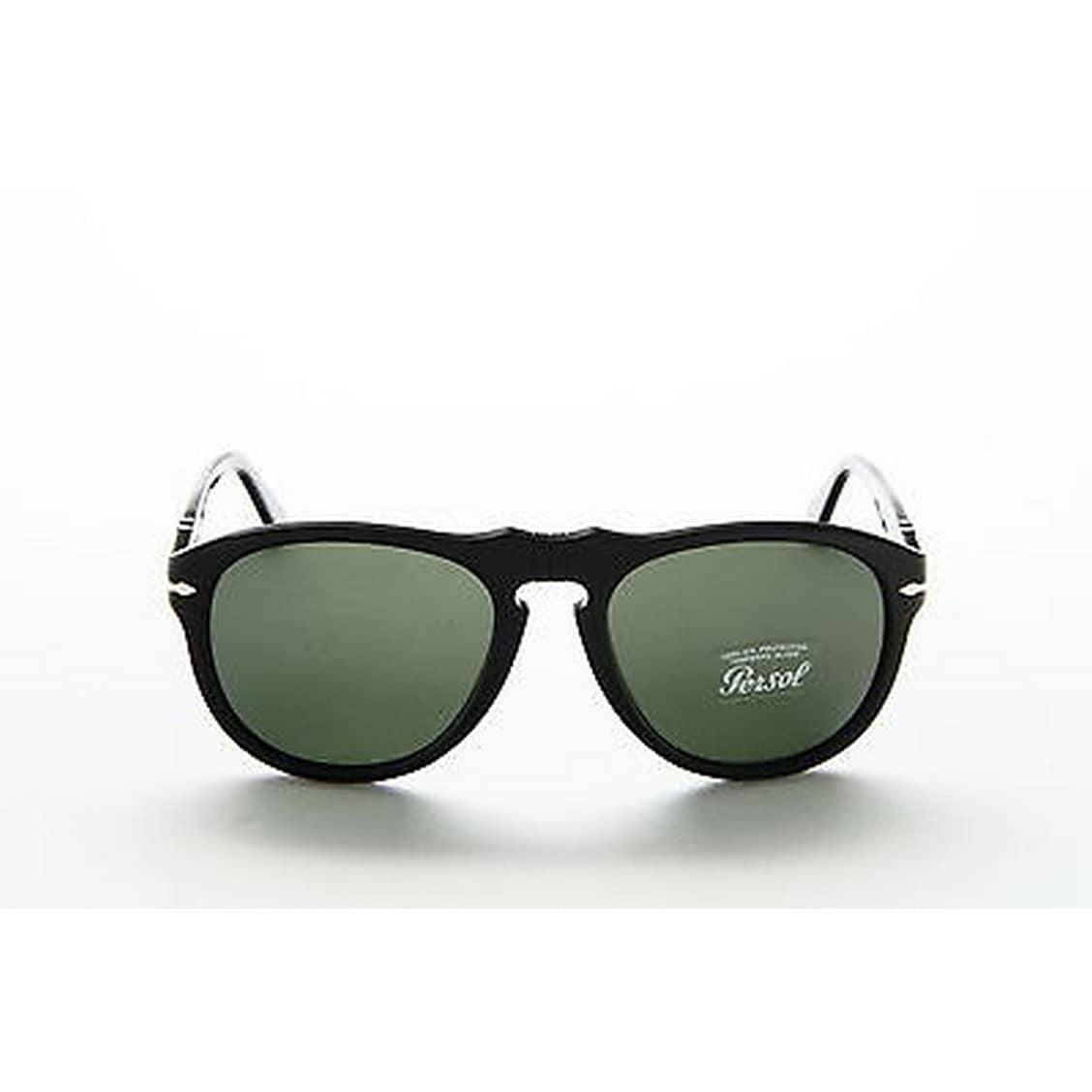 bafda3808e Shop Persol Men s PO0649 95 31 56 Aviator Plastic Black Green Sunglasses -  Free Shipping Today - Overstock.com - 14602167