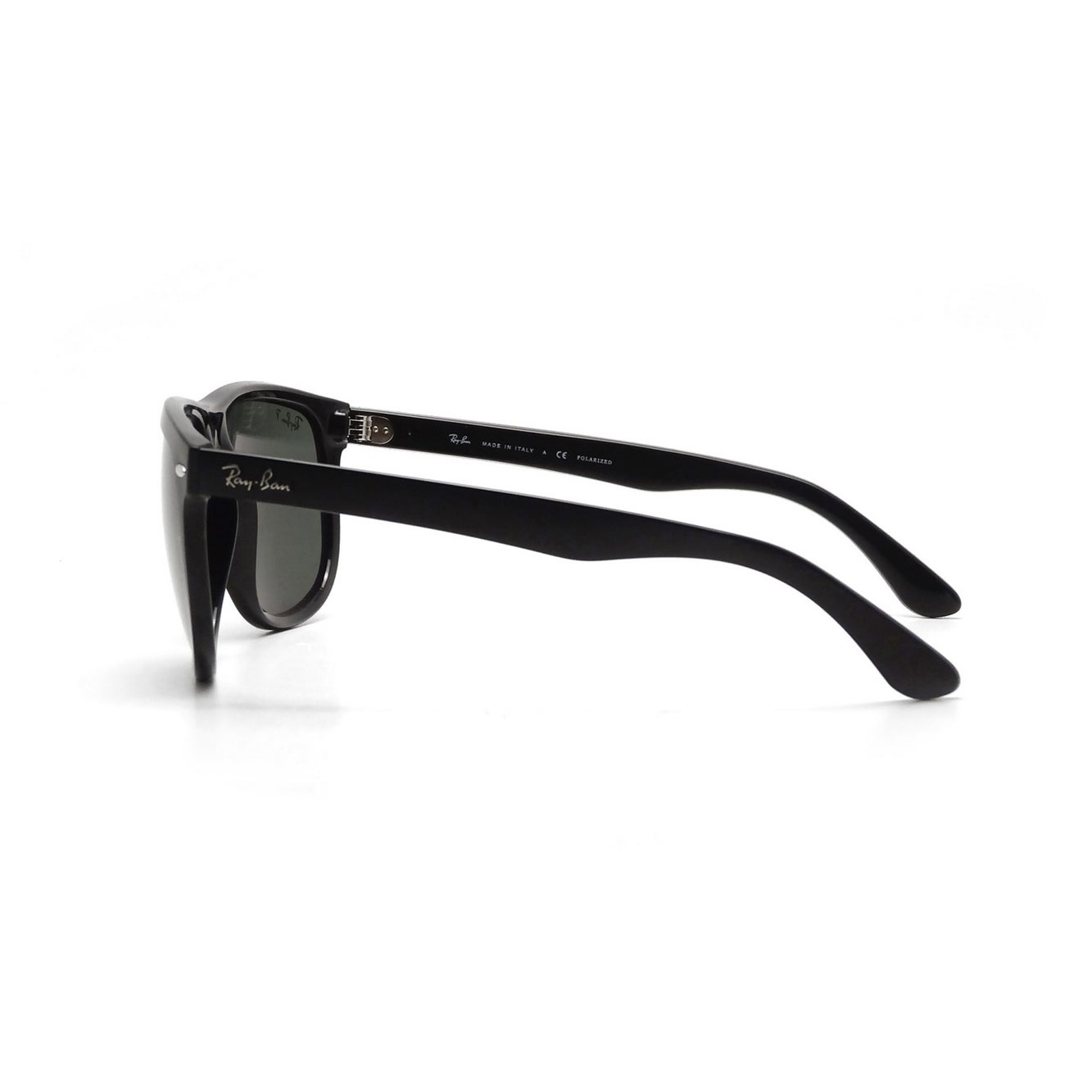 3398cc25065 Shop Ray-Ban Men s RB4147 601 58 60 Square Plastic Black Green Sunglasses -  Free Shipping Today - Overstock - 14602288