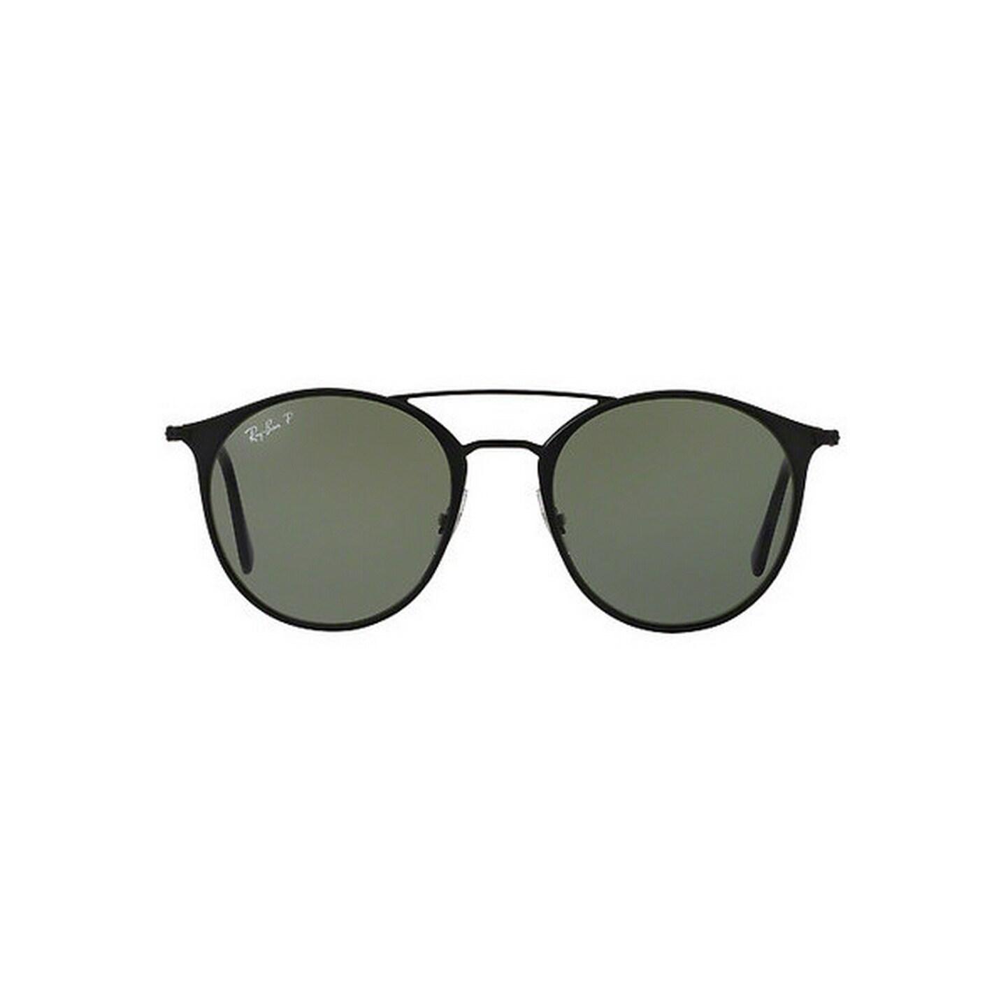 cb9e177c3fc Ray-Ban Unisex RB3546 186 9A 49 Round Metal Plastic Green Sunglasses