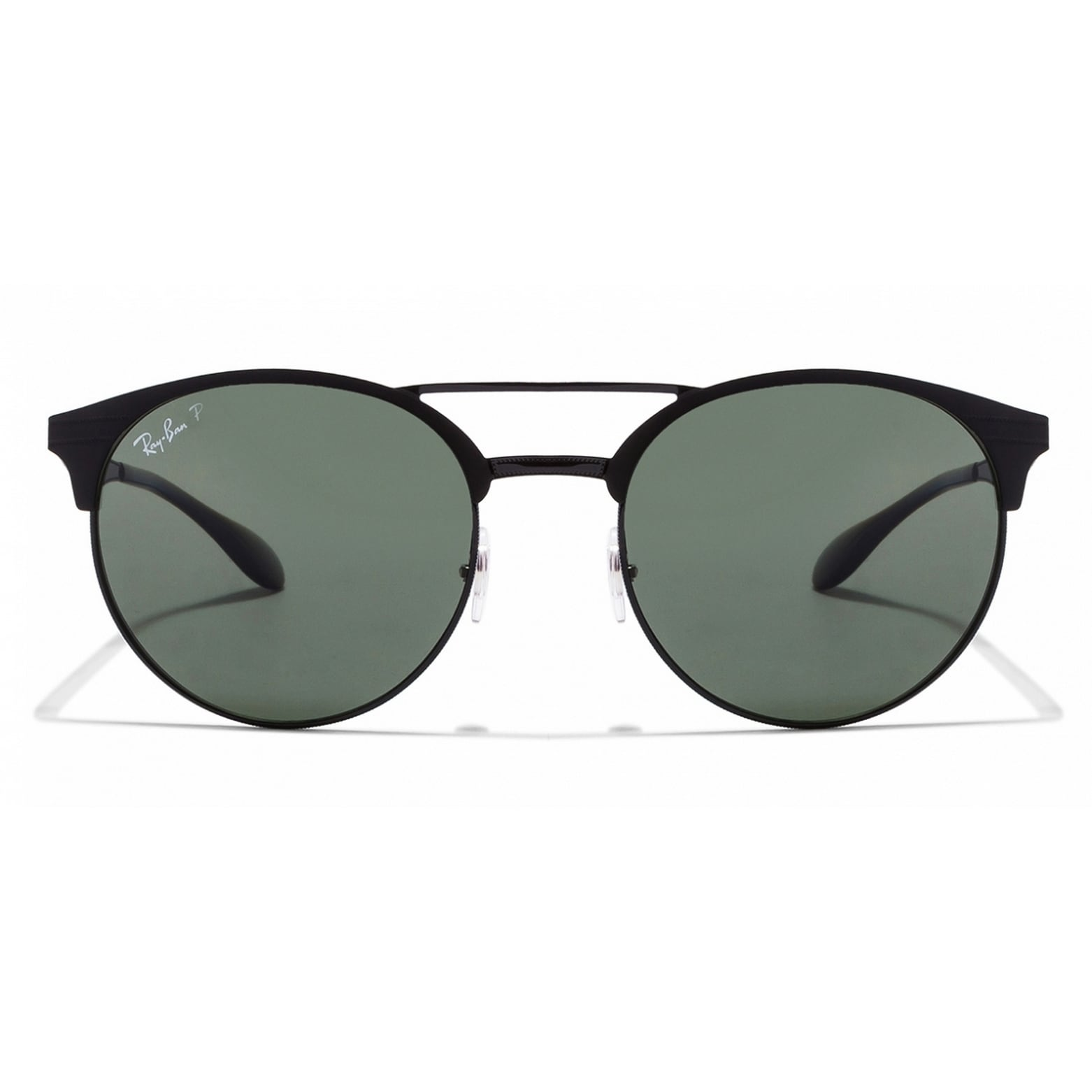 a2194be708 Shop Ray-Ban Unisex RB3545 186 9A 54 Round Metal Plastic Black Green  Sunglasses - Free Shipping Today - Overstock.com - 14602328