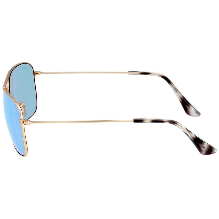 6e3479171f1 Shop Ray-Ban Unisex RB3543 112 A1 59 Aviator Metal Plastic Gold Blue  Sunglasses - Free Shipping Today - Overstock - 14602331