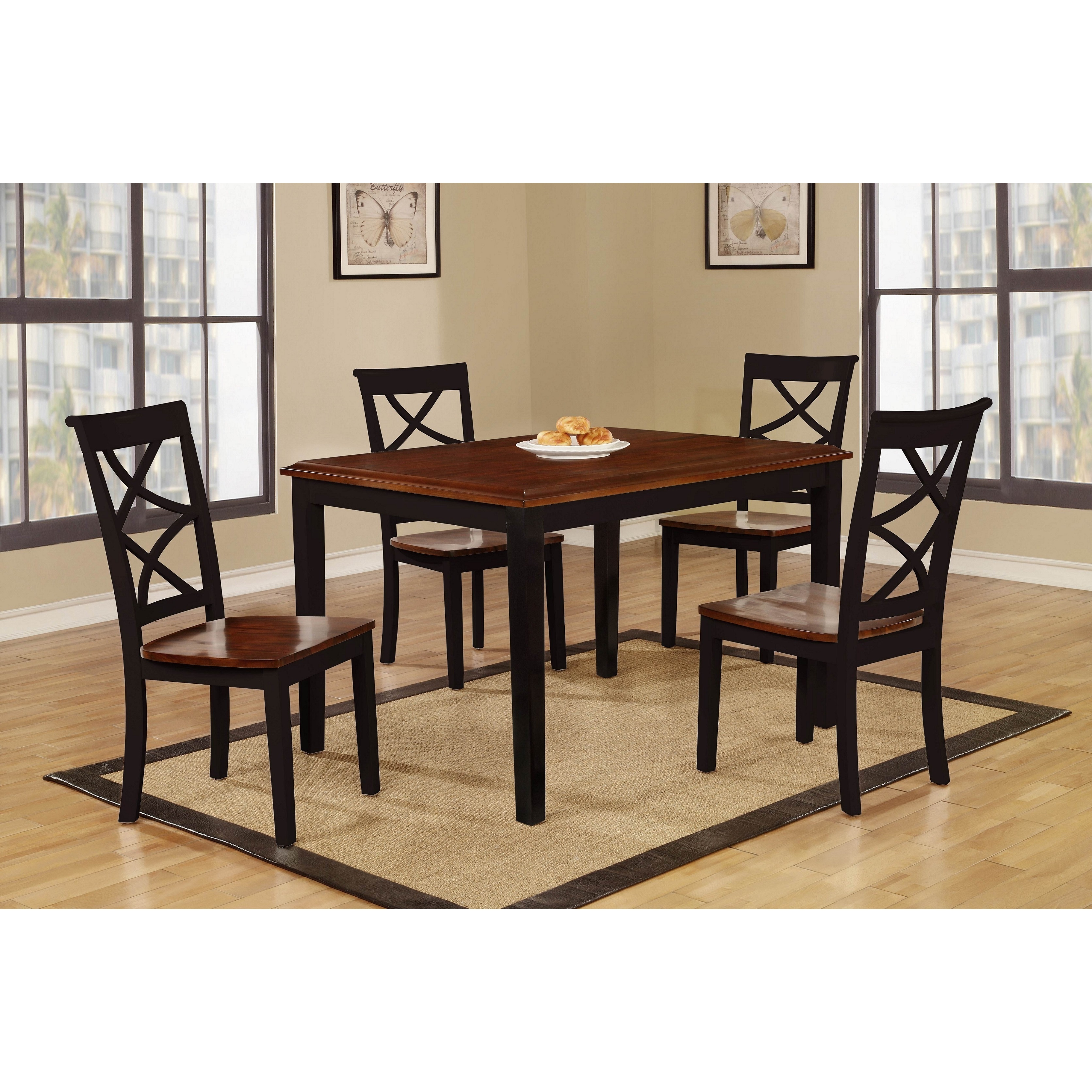 Shop Baum 5 piece Two tone Wood Dining Set
