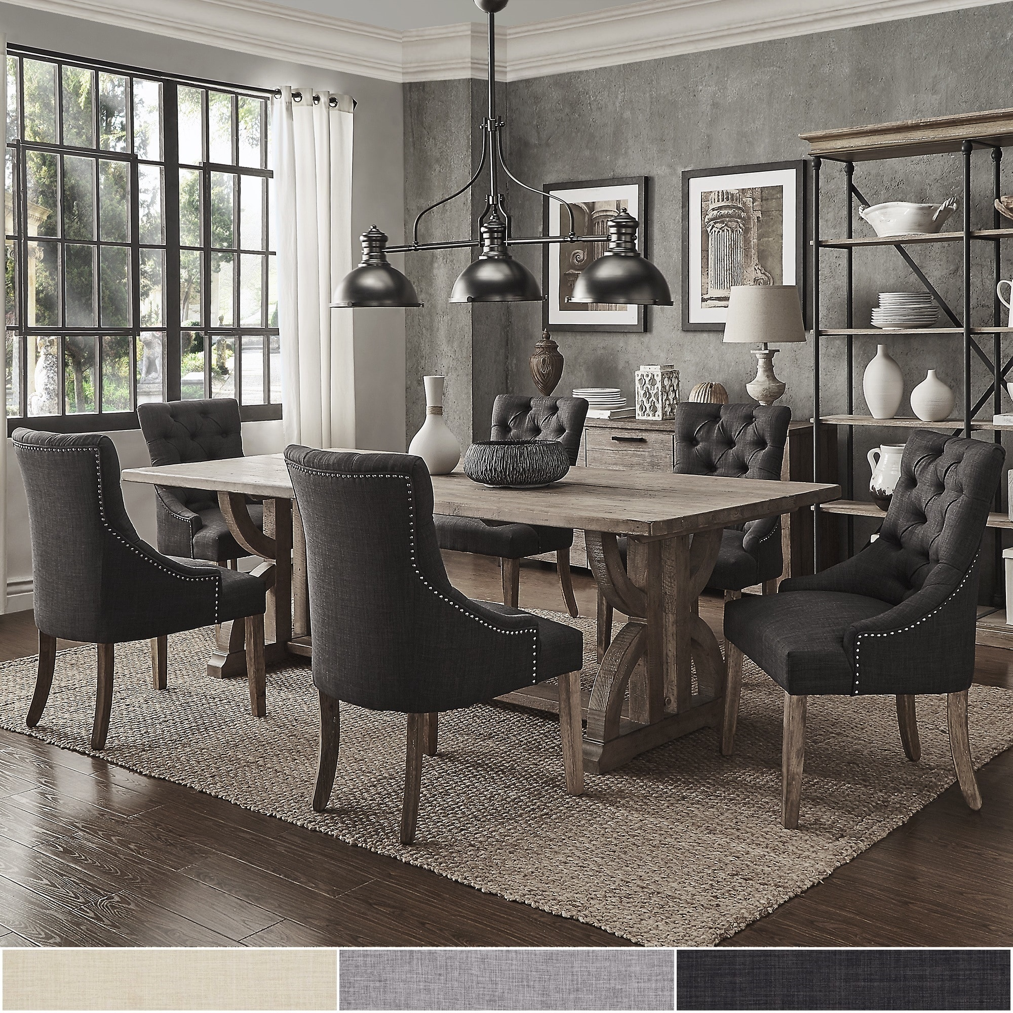 Paloma Salvaged Reclaimed Pine Wood 7-Piece Rectangle Dining Set by iNSPIRE  Q Artisan - Free Shipping Today - Overstock.com - 21146709