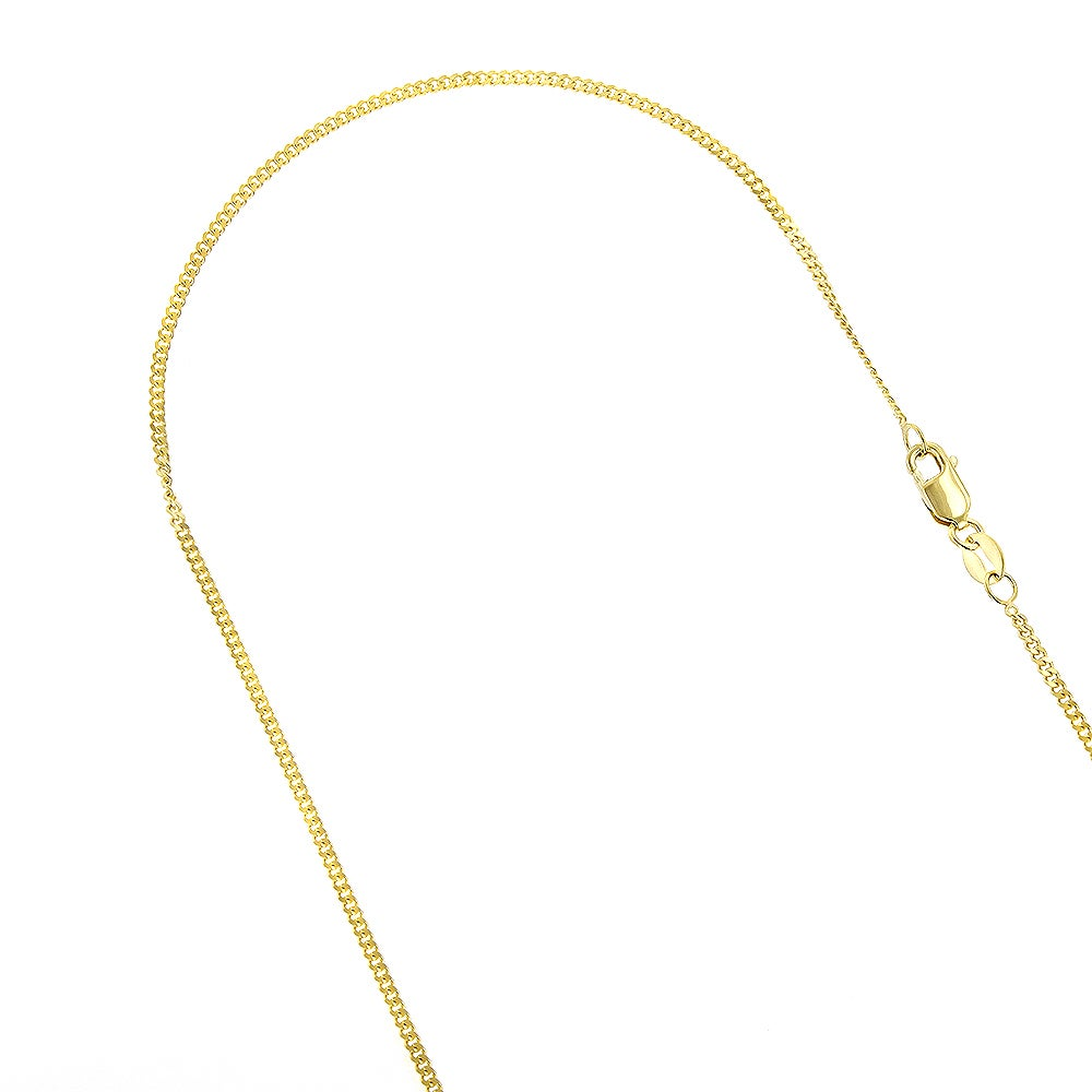 """Polished Link Women Men 14K Solid Yellow Gold Box Necklace Chain 1.2mm 16-24/"""""""